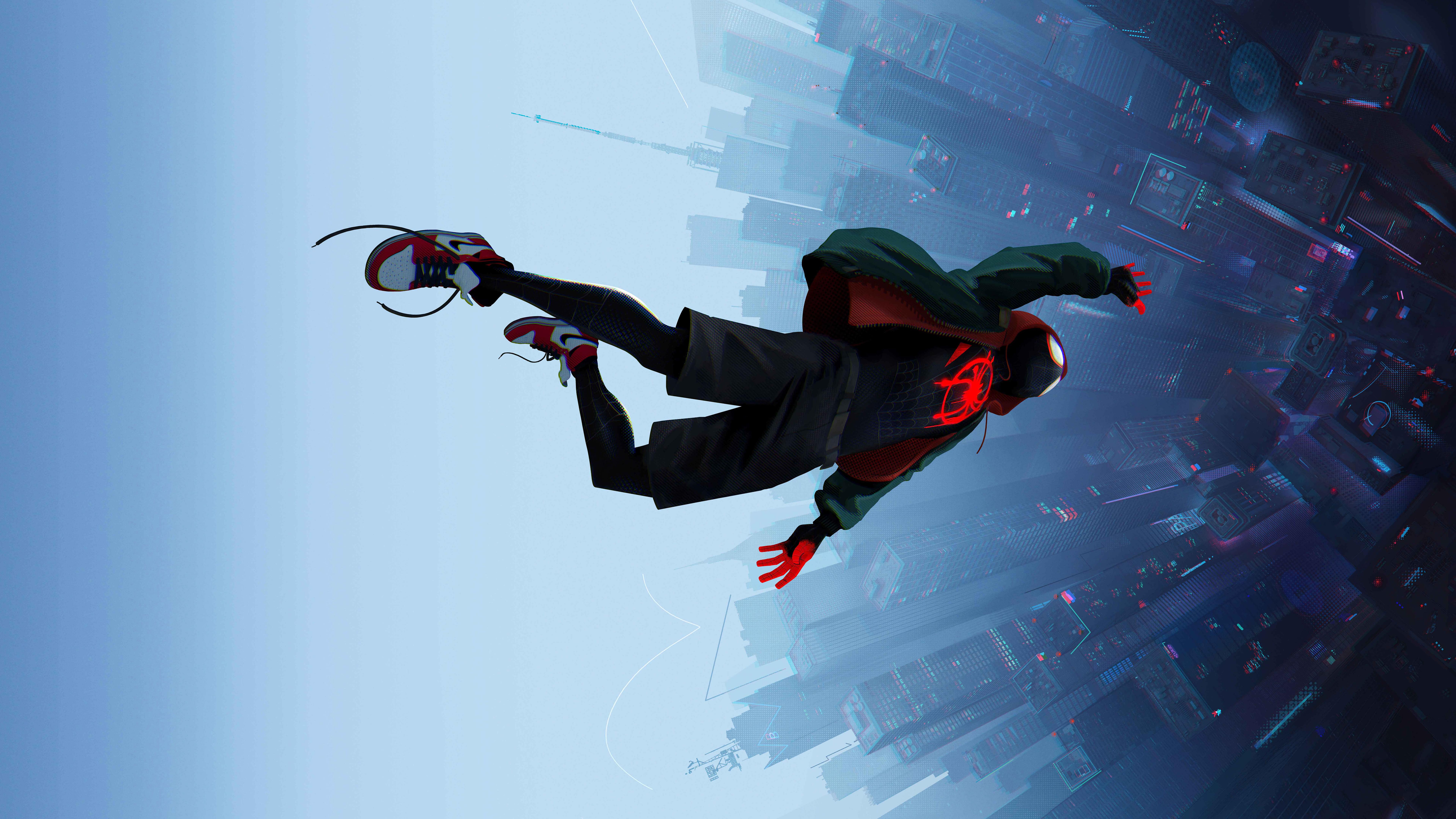 Spiderman into the spider verse movie 8k hd movies 4k - Moving spider desktop ...