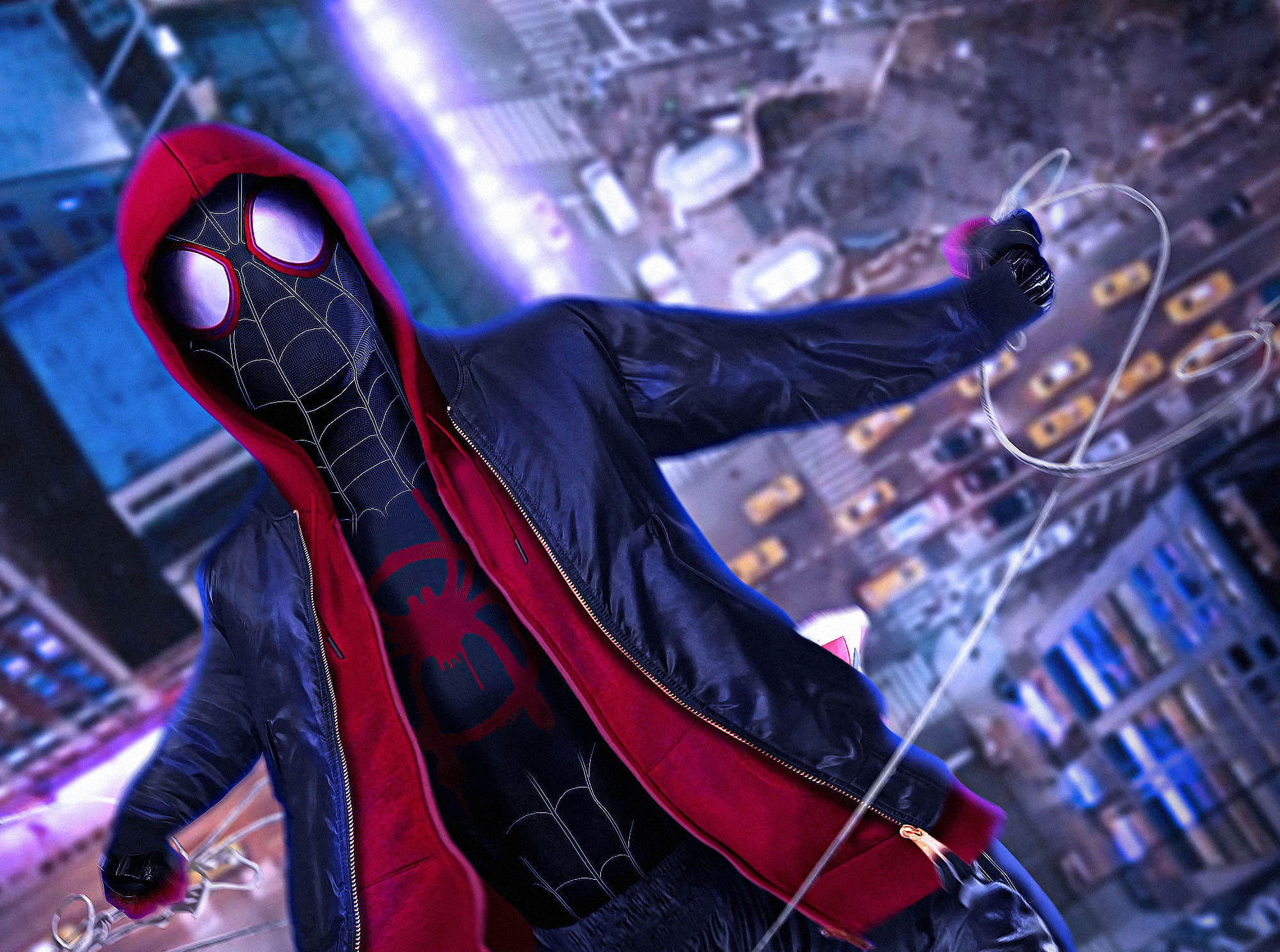 SpiderMan Into The Spider Verse Movie Cosplay, HD Movies