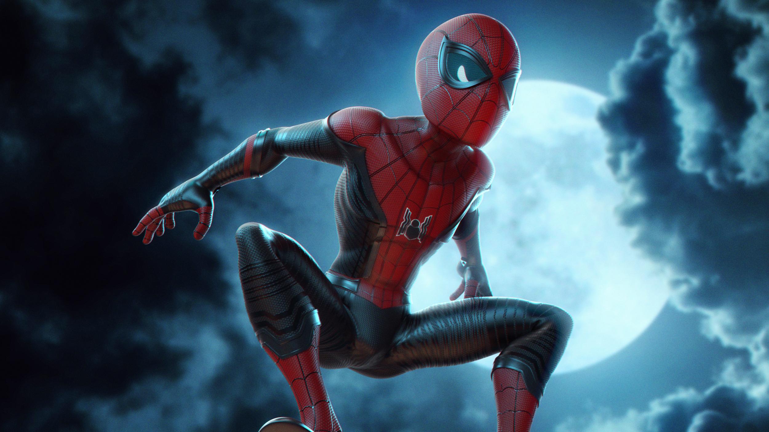 spiderman into the spider verse movie digital artwork 2018