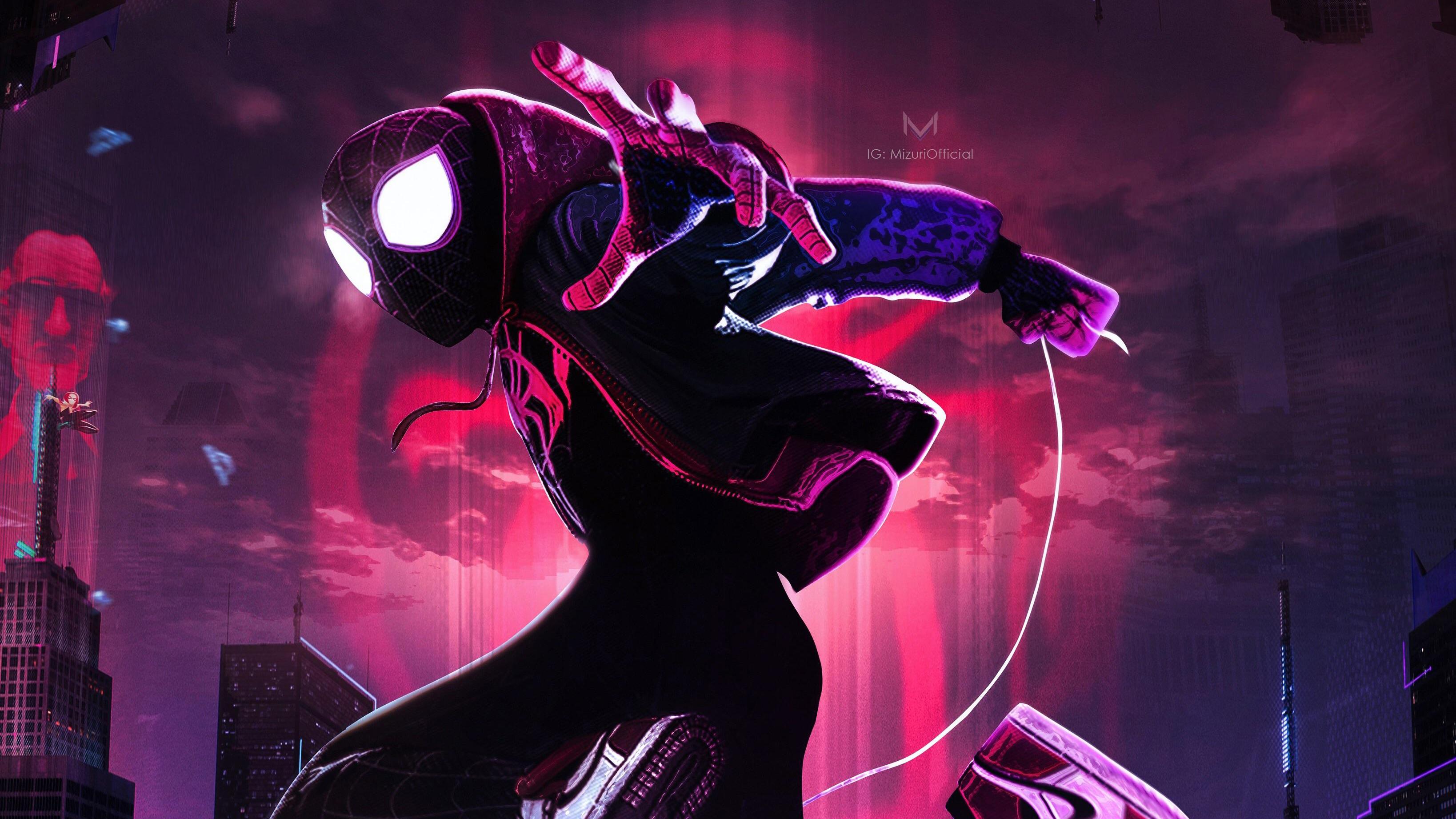 Spiderman into the spider verse movie new arts hd movies - New spiderman movie wallpaper ...
