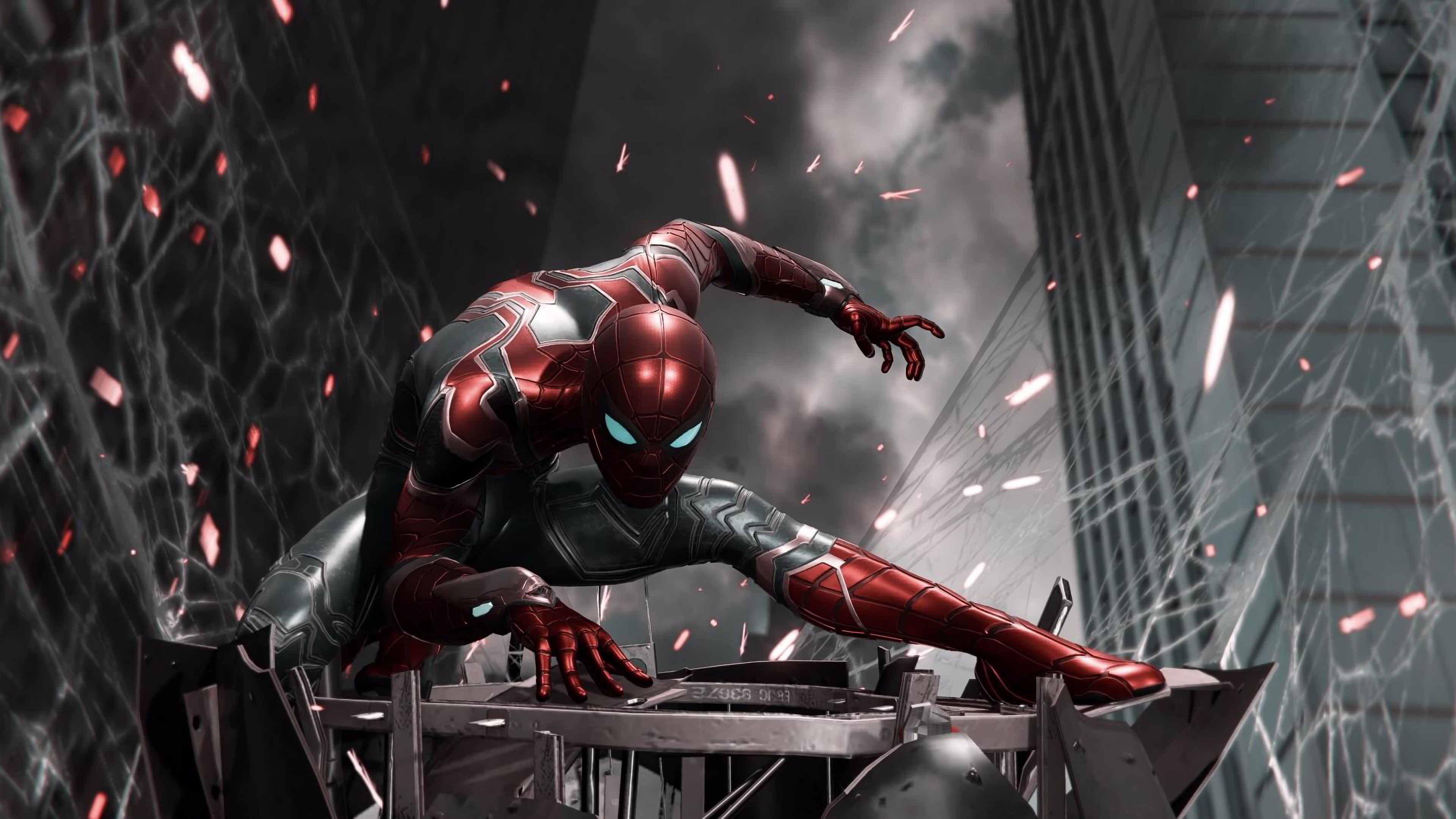 Game Of Spider Man Hd Wallpaper: Spiderman Iron Suit Ps4, HD Games, 4k Wallpapers, Images