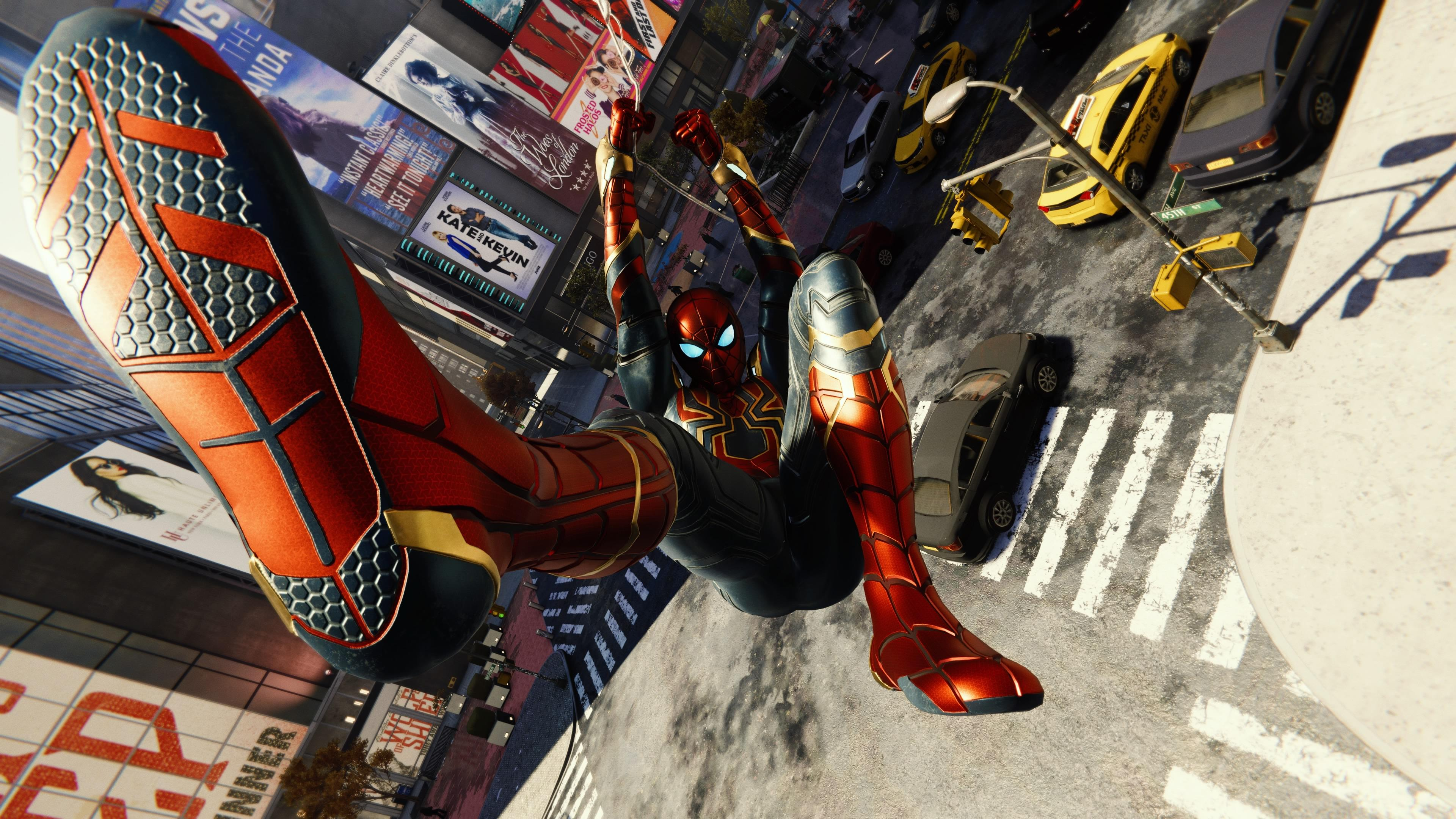 Spiderman Iron Suit Shooting Web, Hd Games, 4K Wallpapers