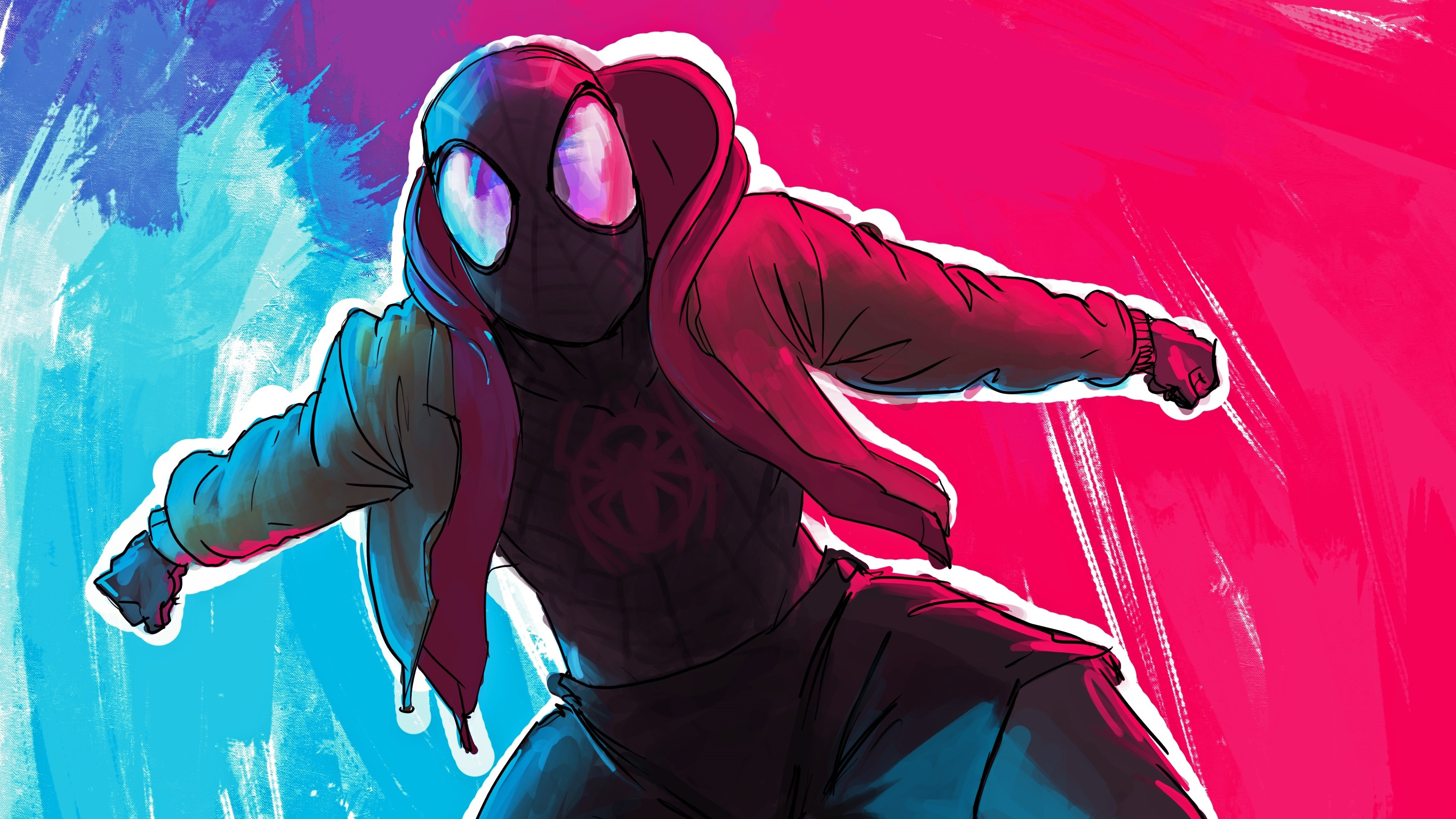Spiderman Miles Morales Arts 4k 2019, HD Superheroes, 4k ...