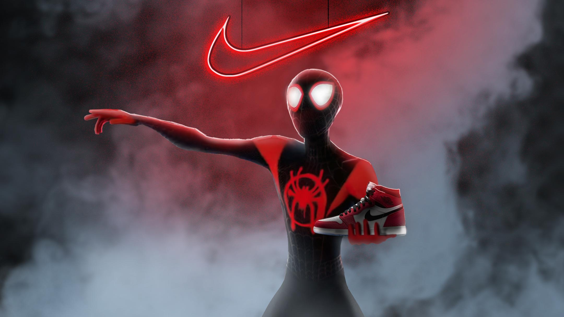 Spiderman Miles Morales Nike Air Jordan Hd Superheroes 4k