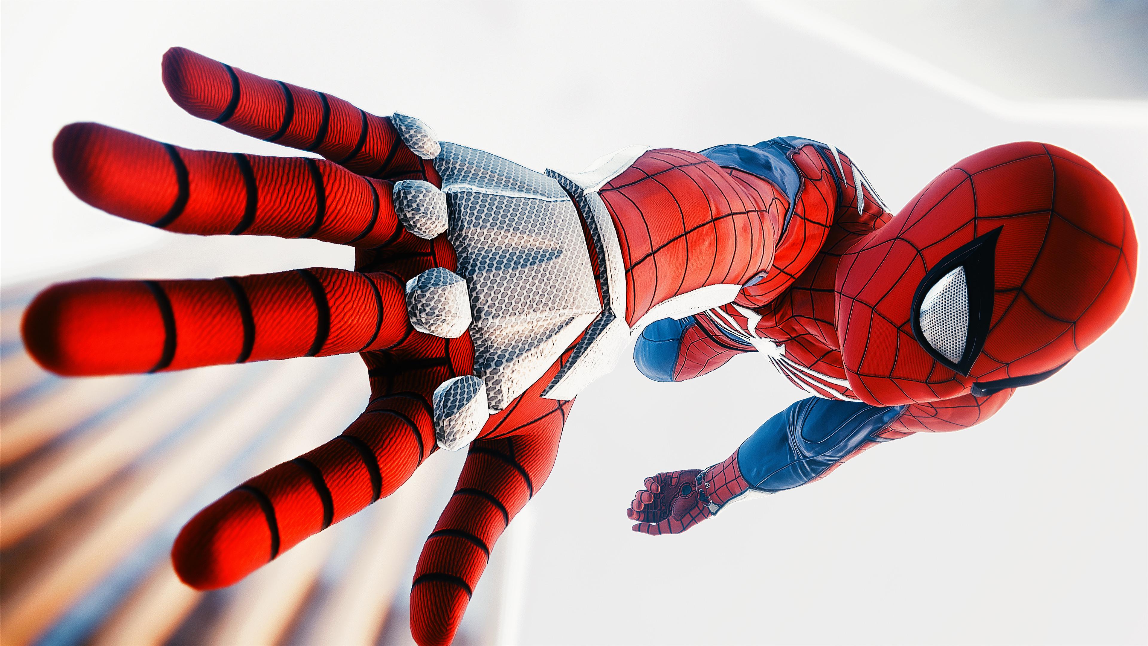 Spiderman Ps4 Advanced Suit 4k, HD Superheroes, 4k