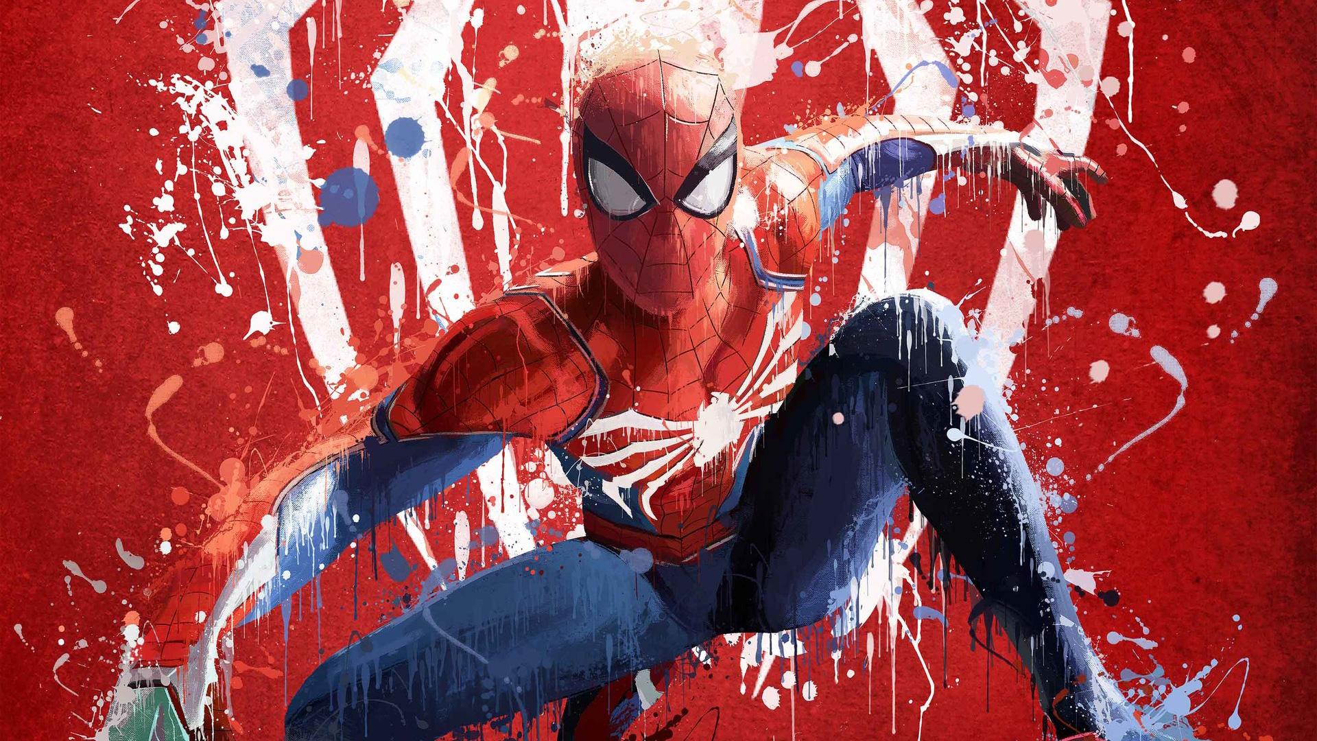 Wallpaper Spider Man 2099 Fan Art 4k Creative Graphics: Spiderman Ps4 Art 2018, HD Games, 4k Wallpapers, Images