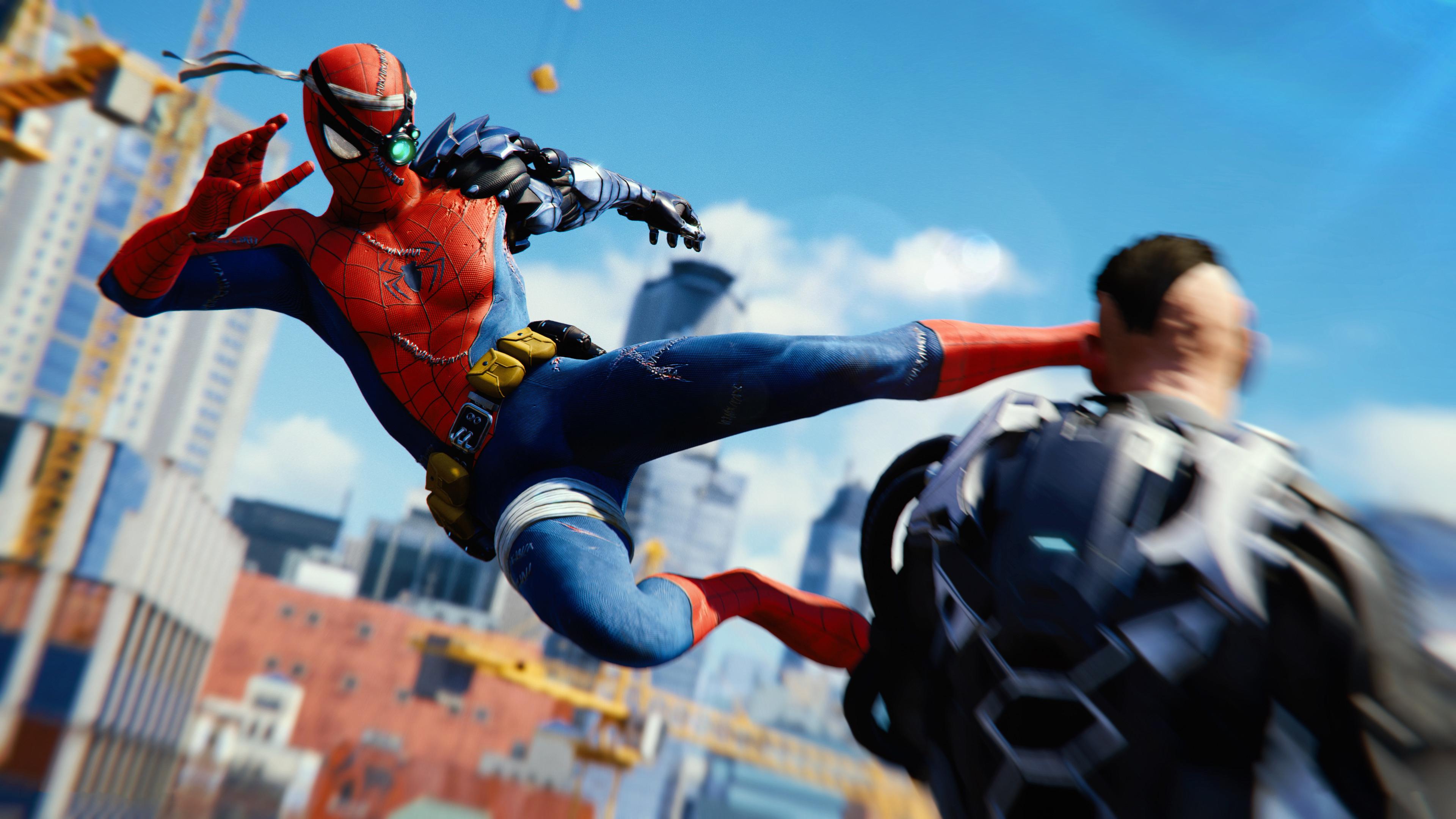 2880x1800 Spiderman Ps4 Attack 4k Macbook Pro Retina HD 4k