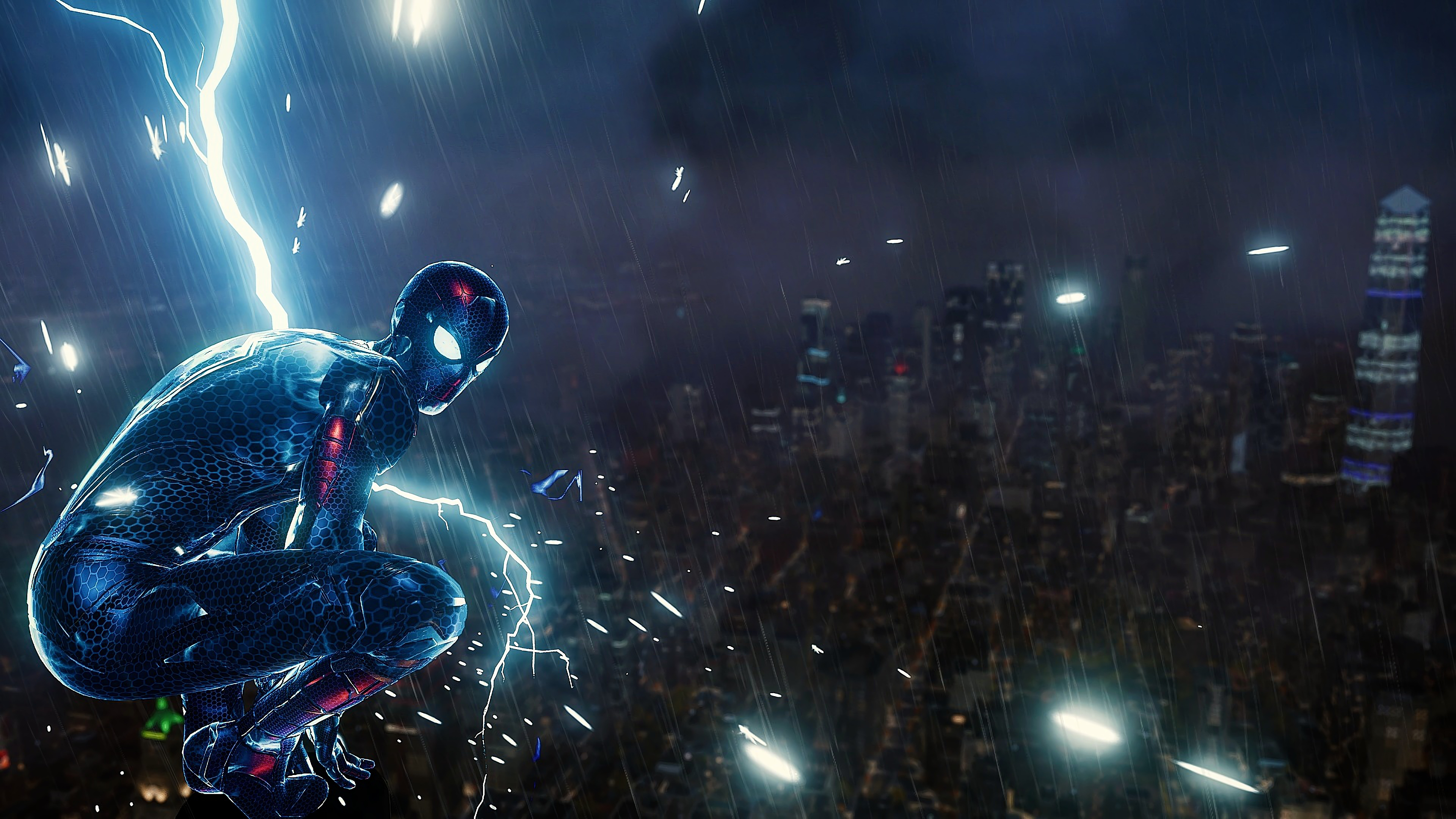 Spiderman ps4 lighting hd superheroes 4k wallpapers - Ps4 wallpaper hd ...