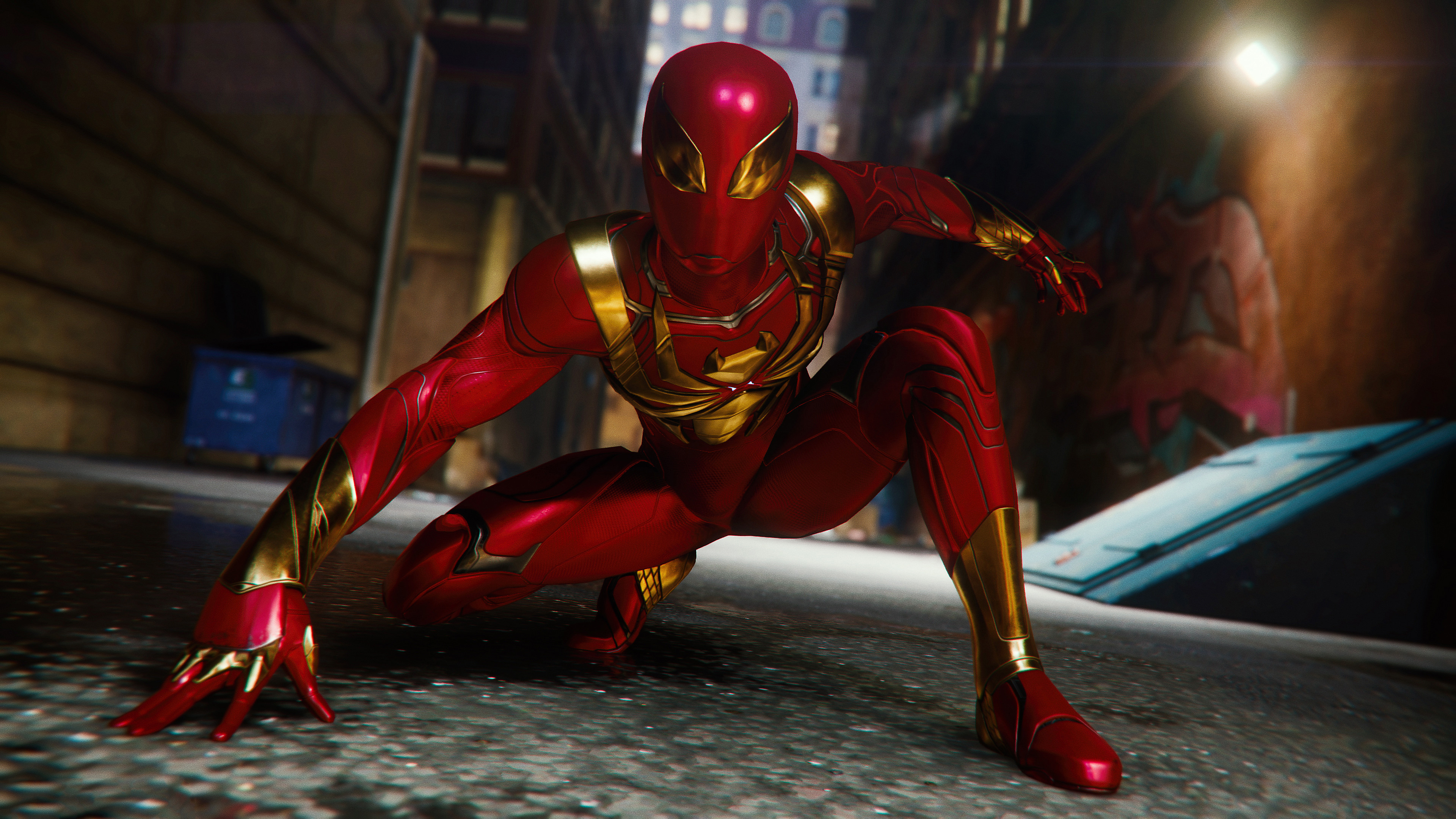 Spiderman Ps4 Red Suit Hd Games 4k Wallpapers Images Backgrounds