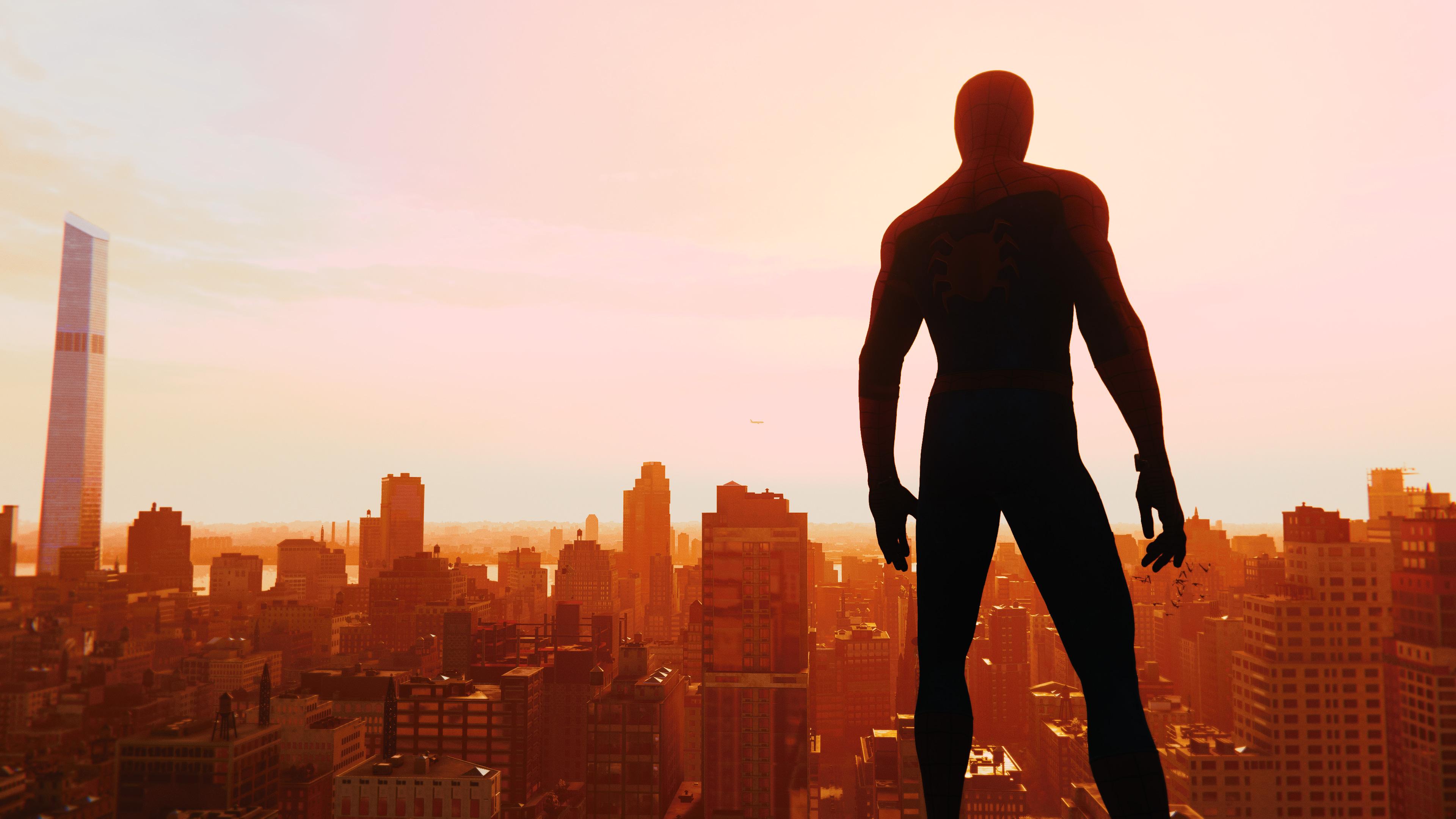Spiderman Ps4 Skyline 4k Hd Games 4k Wallpapers Images