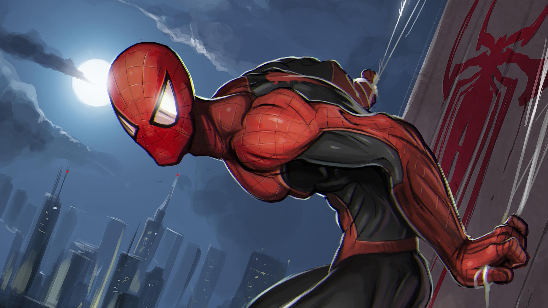 1920x1080 Spiderman Superhero Art Laptop Full HD 1080P HD ...