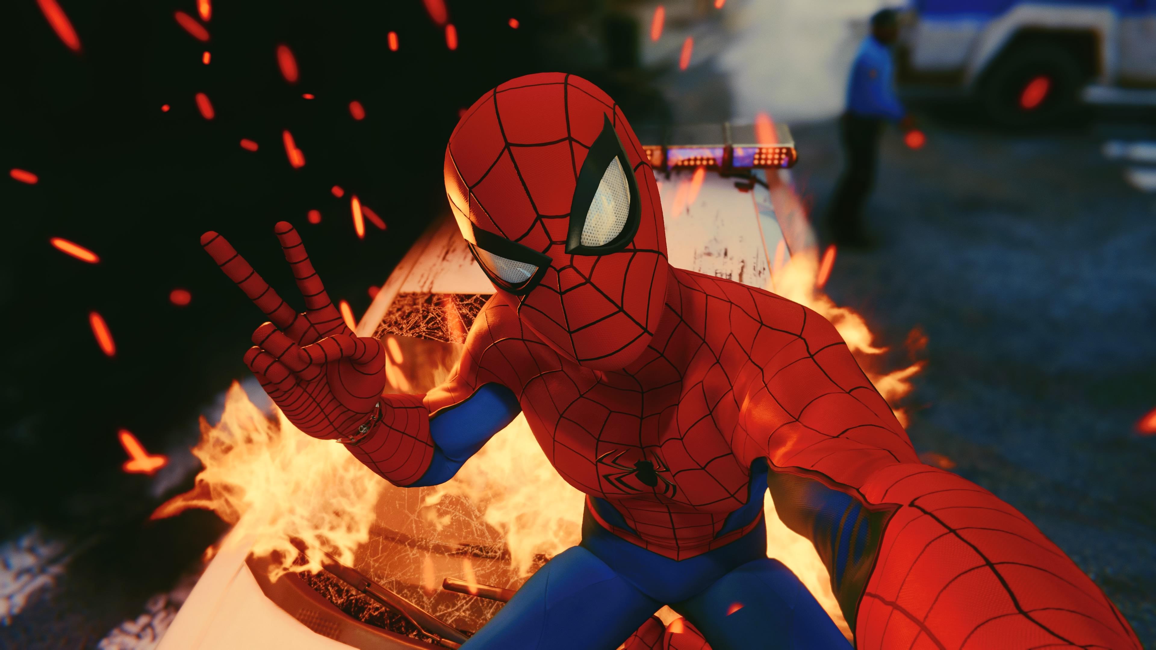 1920x1080 Spiderman Taking Selfie Ps4 4k 2018 Laptop Full Hd 1080p
