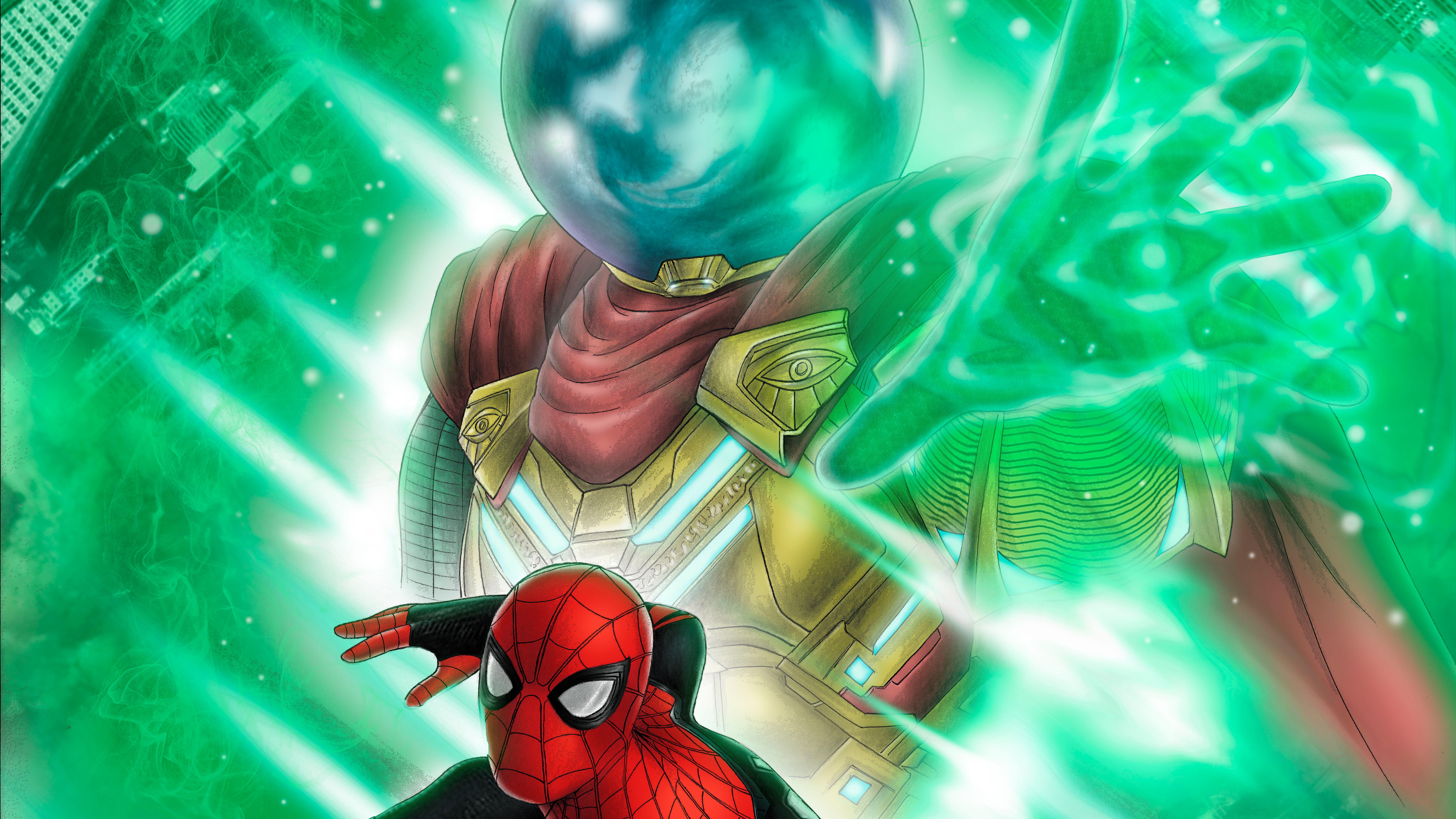 Spiderman Vs Mysterio 2019 8k, HD Superheroes, 4k Wallpapers