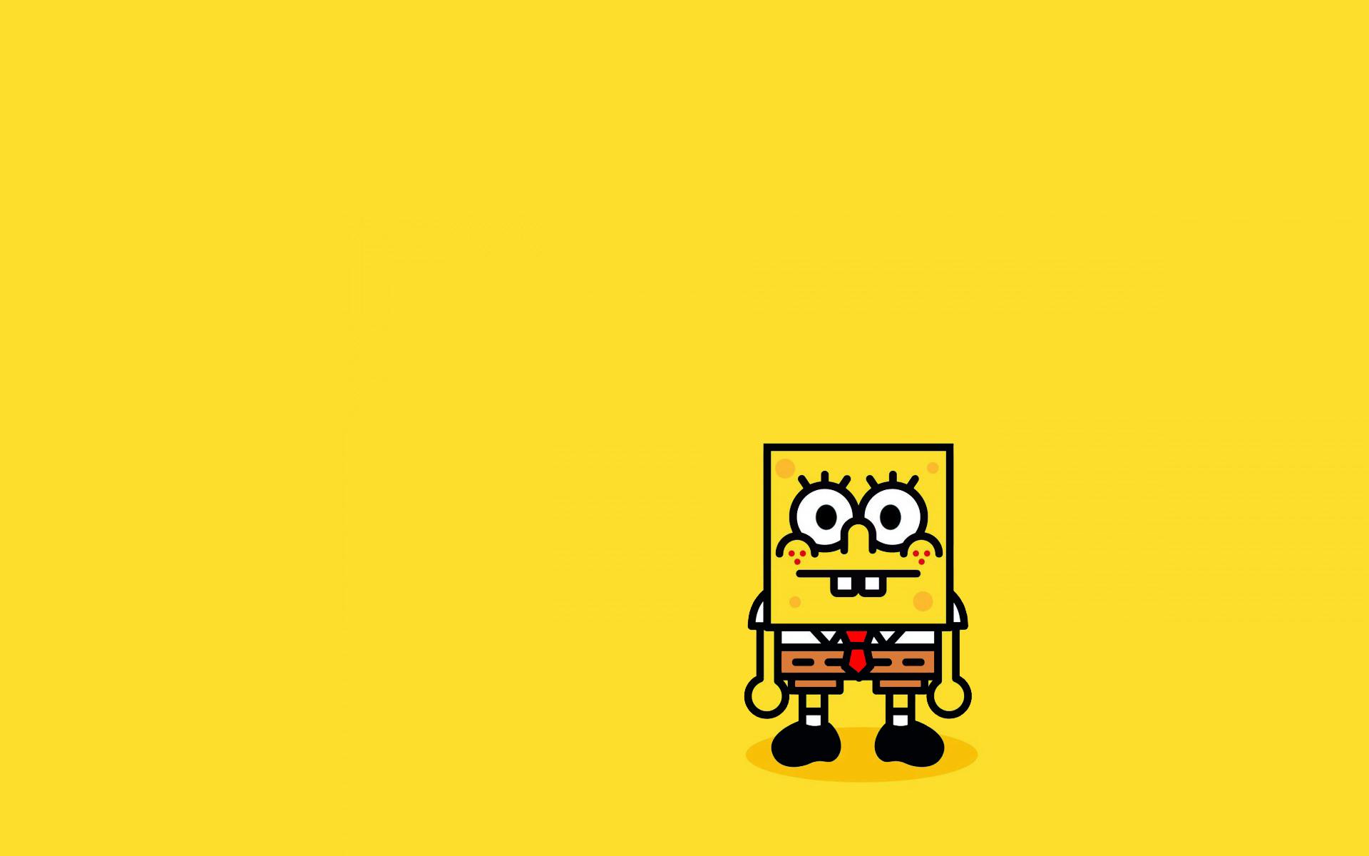 Spongebob Minimalism Hd Cartoons 4k Wallpapers Images