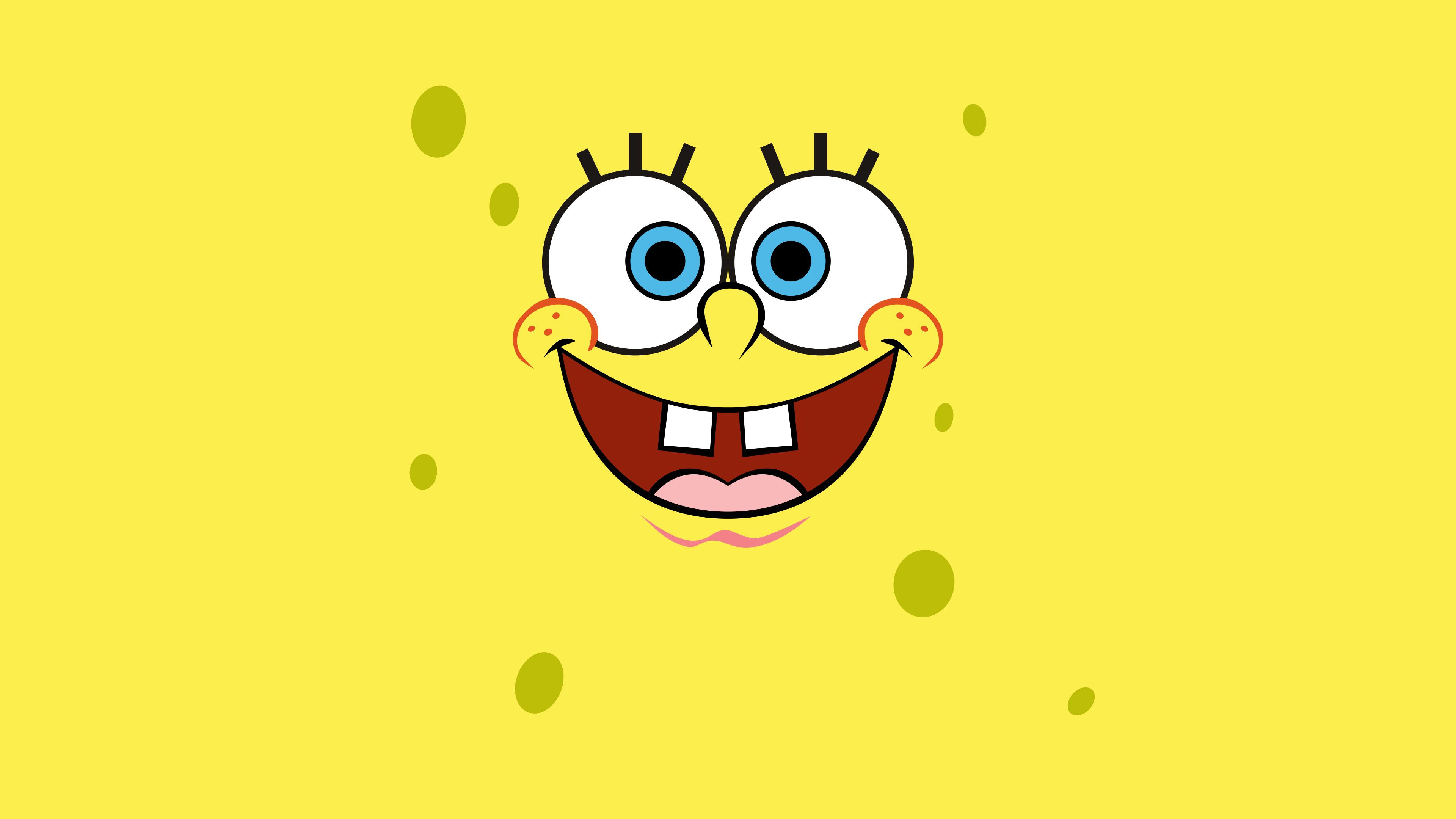 Spongebob Squarepants Minimalist 4k Hd Cartoons 4k Wallpapers