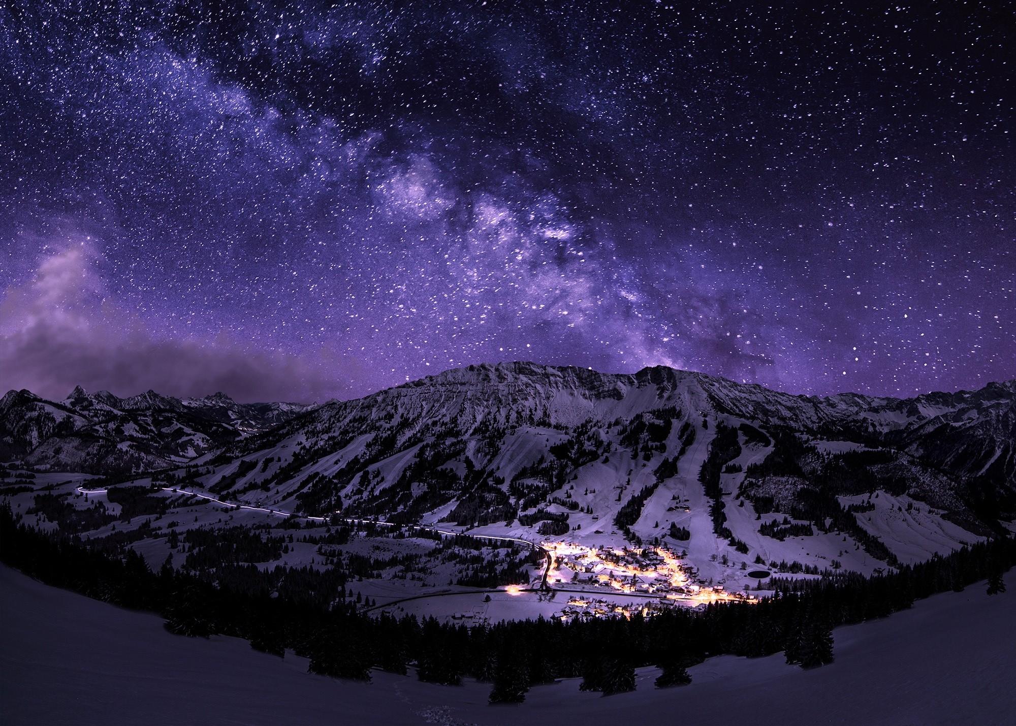 2048x1152 stars night galaxy 2048x1152 resolution hd 4k for Night sky wallpaper 4k
