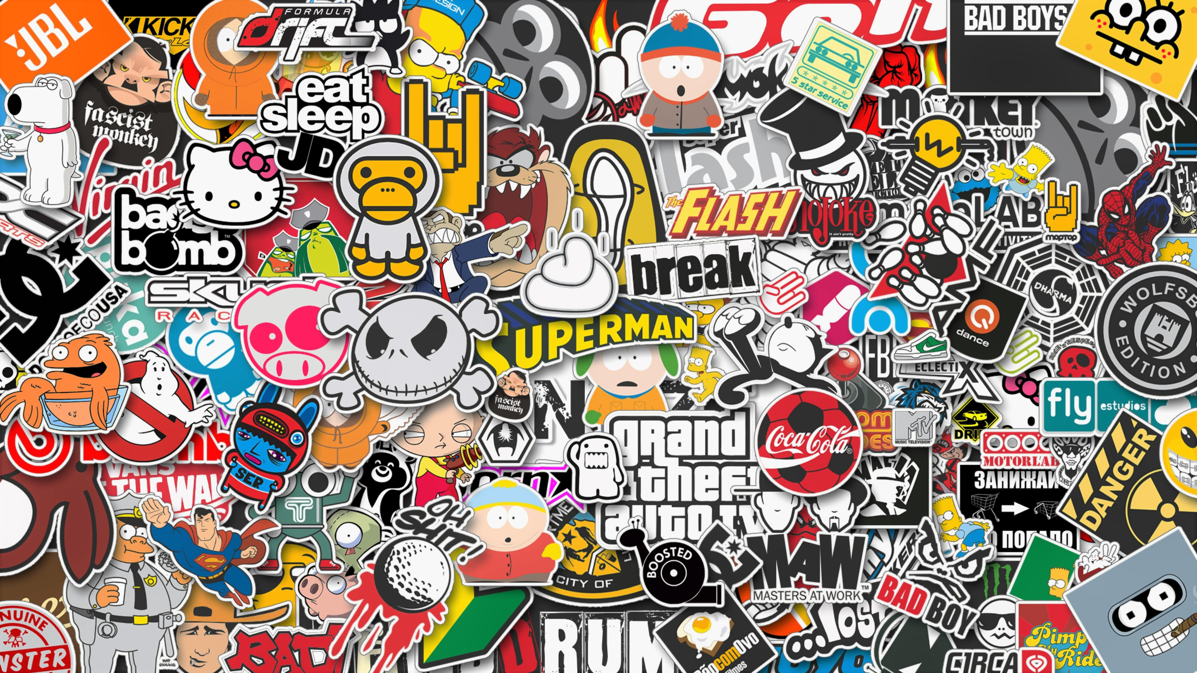 Stickers Style Hd Artist 4k Wallpapers Images