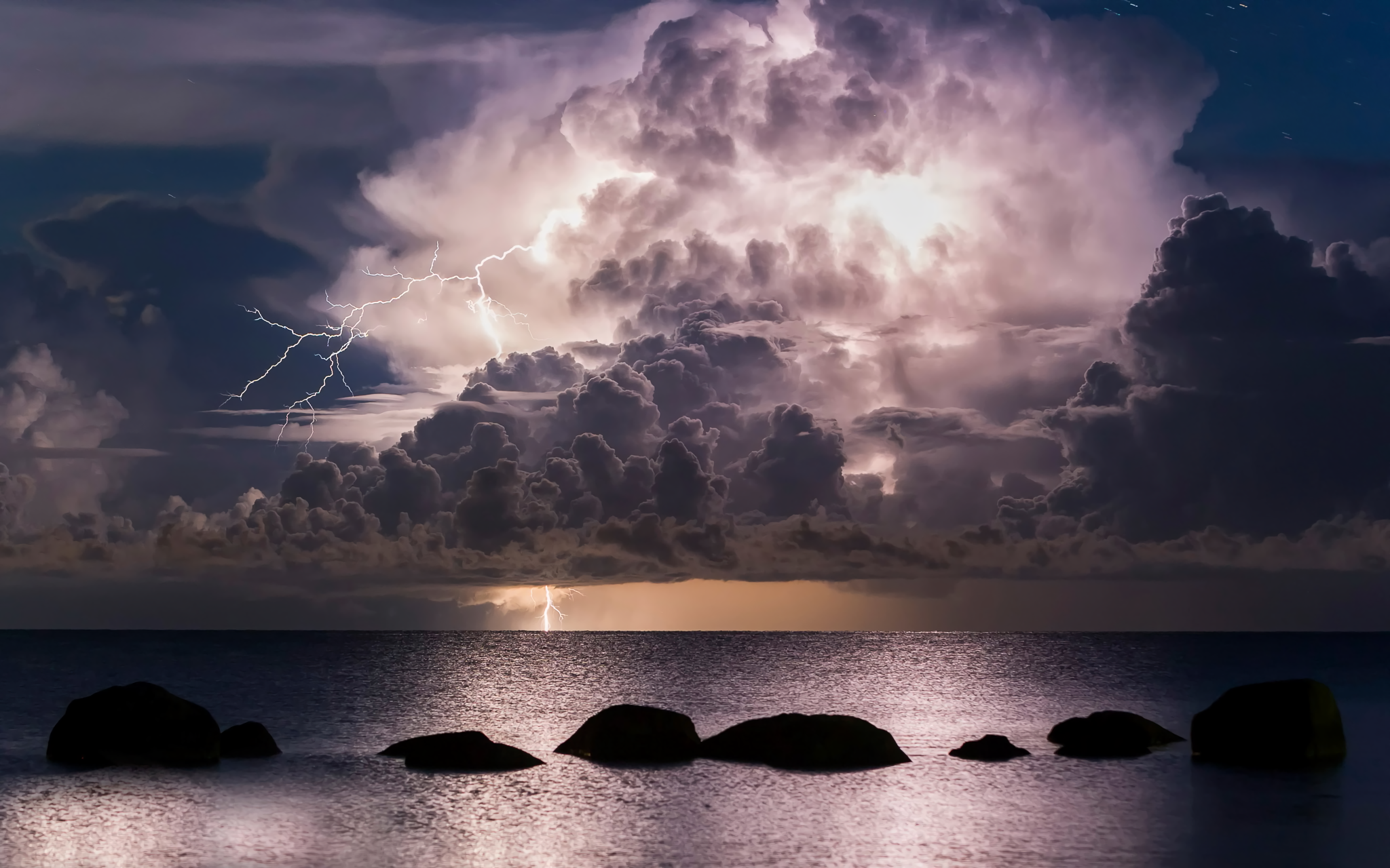 storm clouds over ocean hd nature 4k wallpapers images