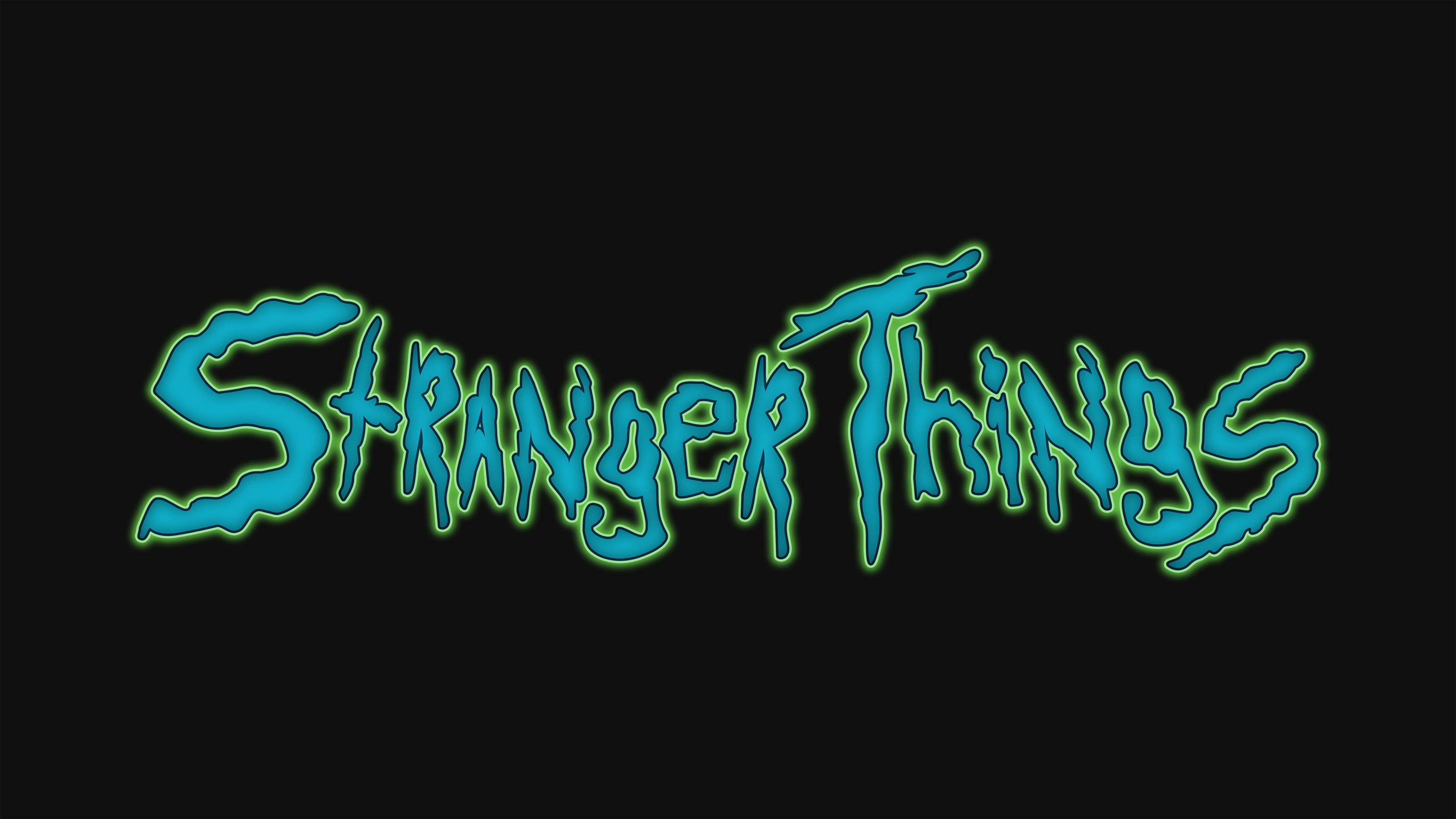 Stranger Things Creative Logo 4k Hd Tv Shows 4k Wallpapers