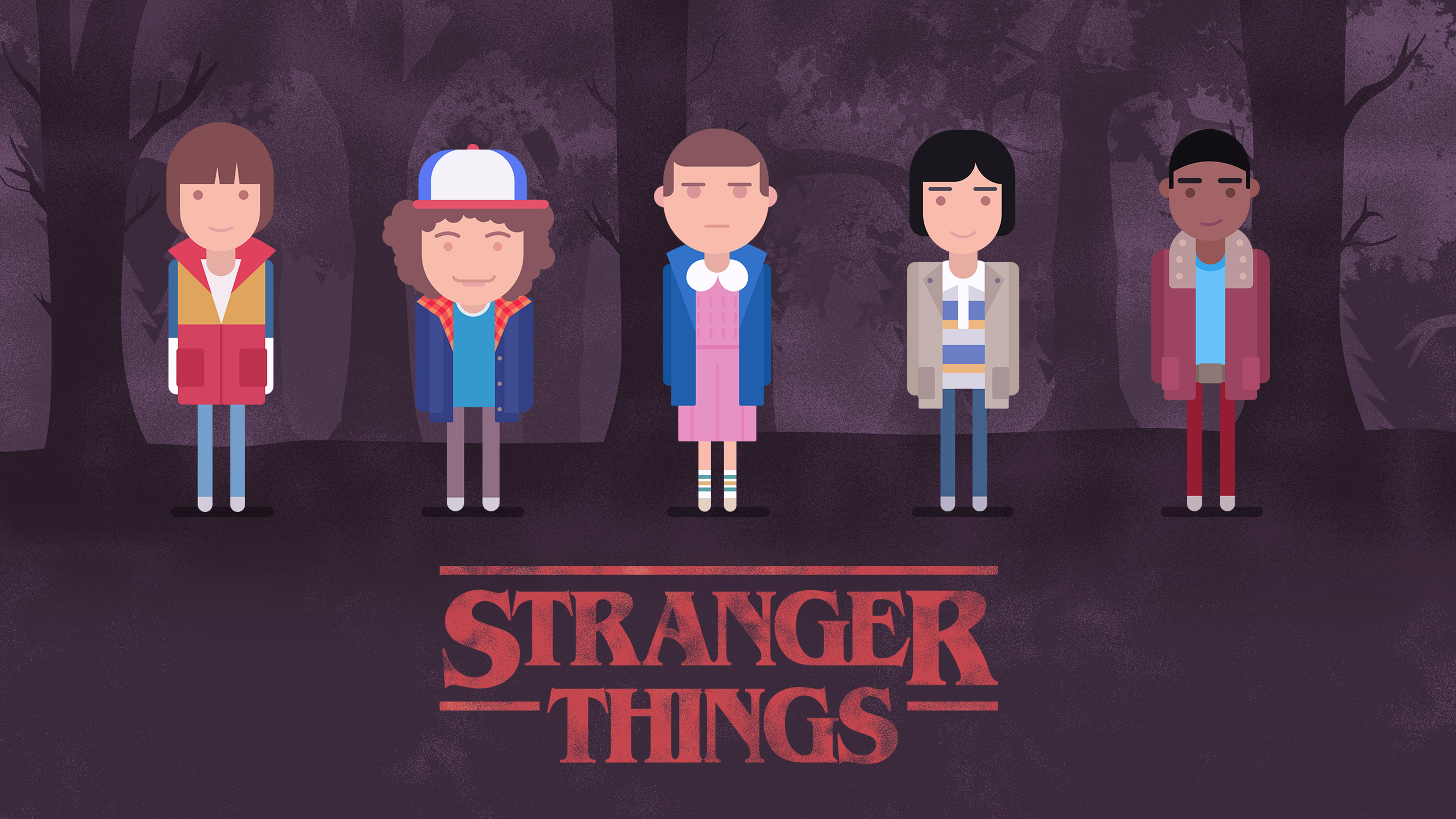 Stranger Things Minimalism 4k Hd Tv Shows 4k Wallpapers