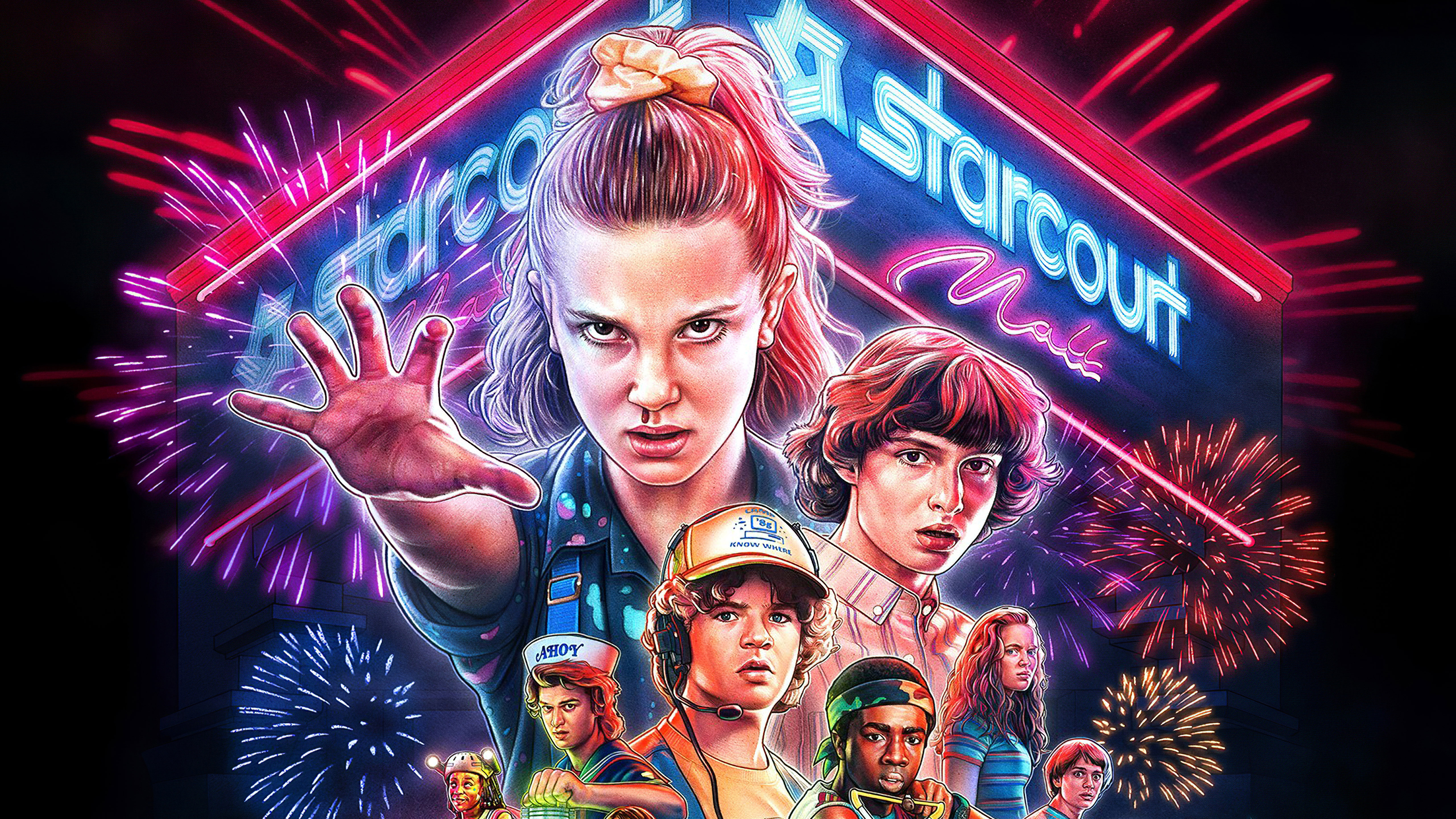 Stranger things season 3 2019 4k 5k hd tv shows 4k - Tv series wallpaper 4k ...