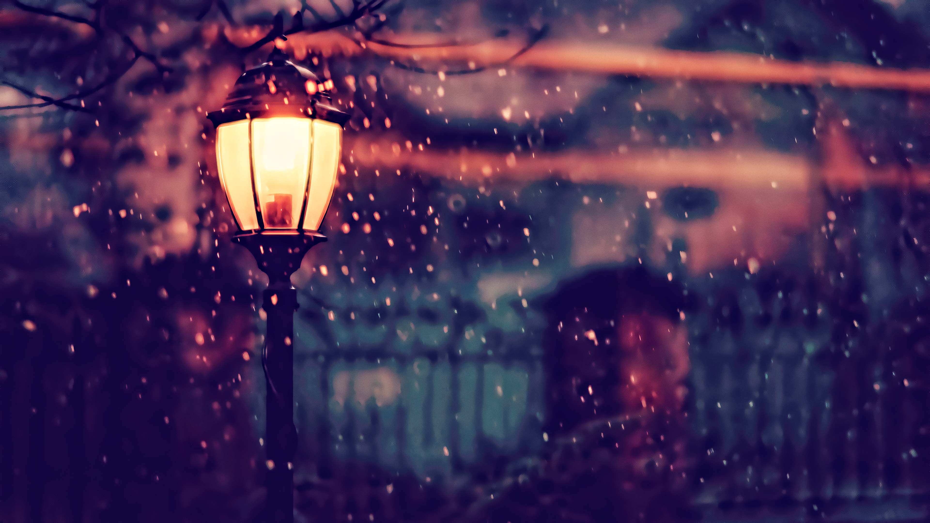 street light winter 4k hd photography 4k wallpapers