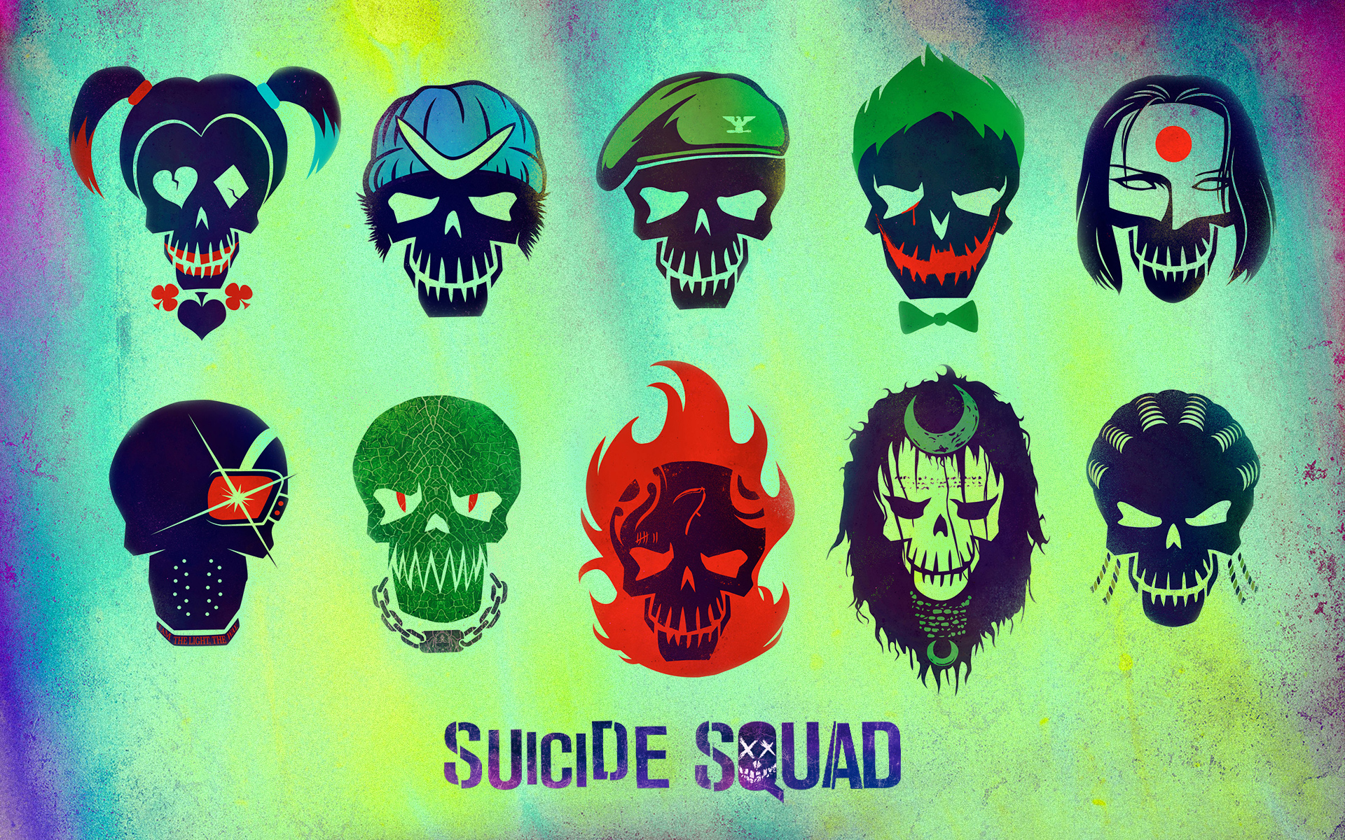 Suicide Squad Characters Minimalism, HD Movies, 4k