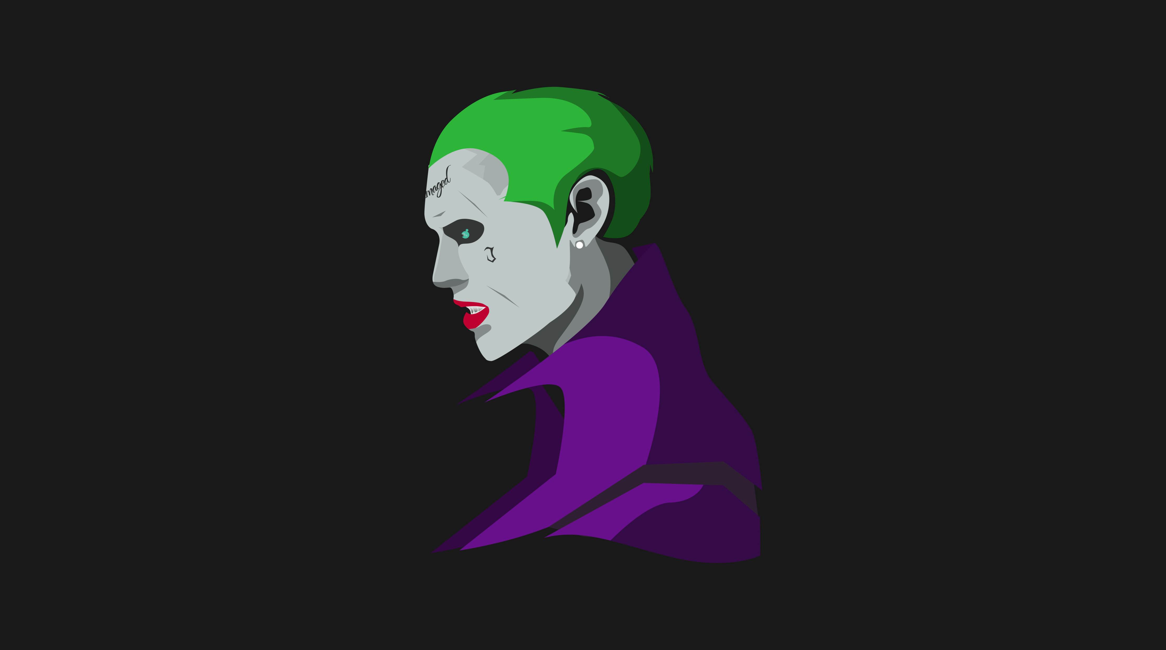 Suicide Squad Joker Minimalism Hd Superheroes 4k