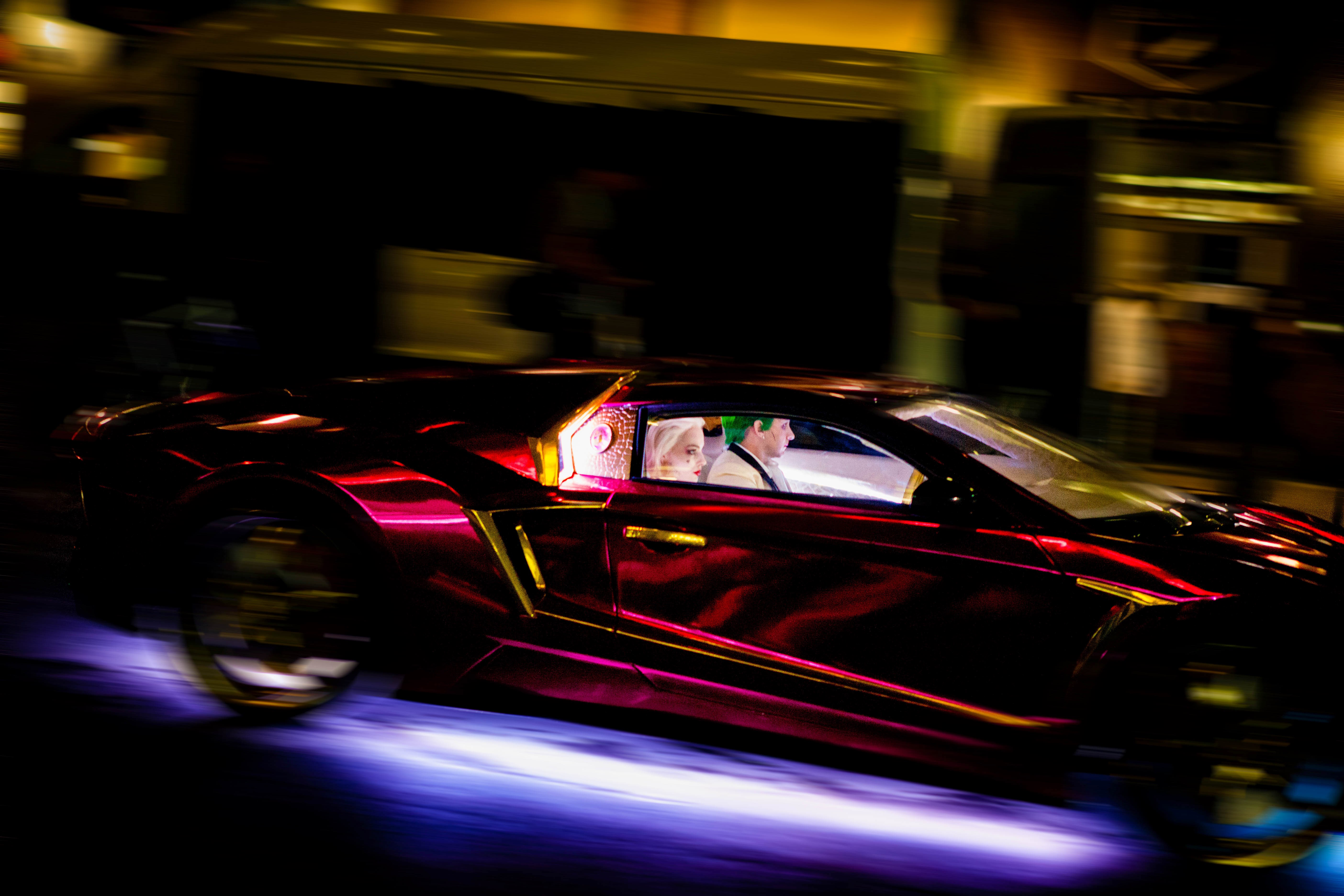 Suicide Squad Purple Lamborghini Hd Movies 4k Wallpapers Images