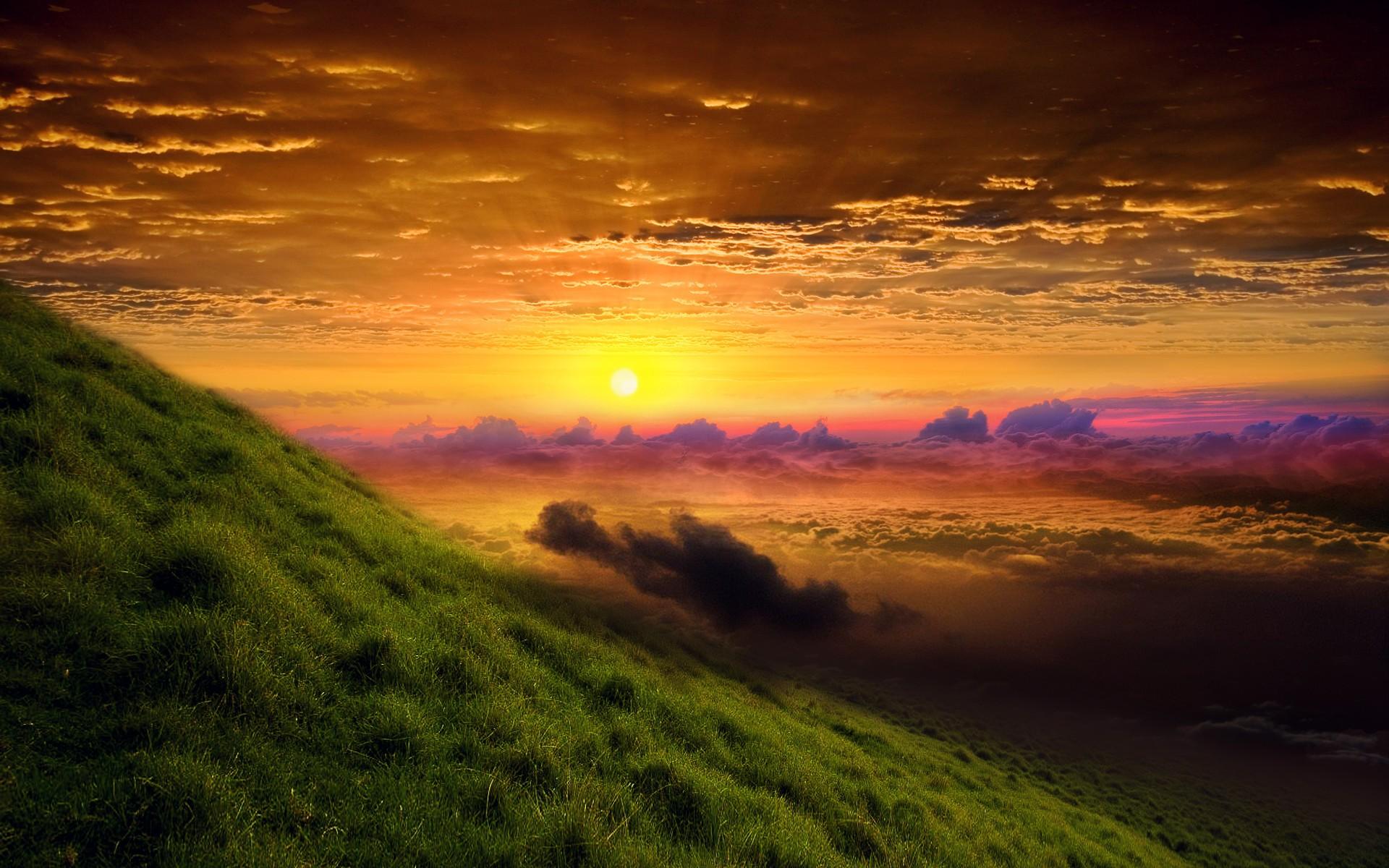 Stunning Nature Hd Wallpaper: Sunrise Glory, HD Nature, 4k Wallpapers, Images