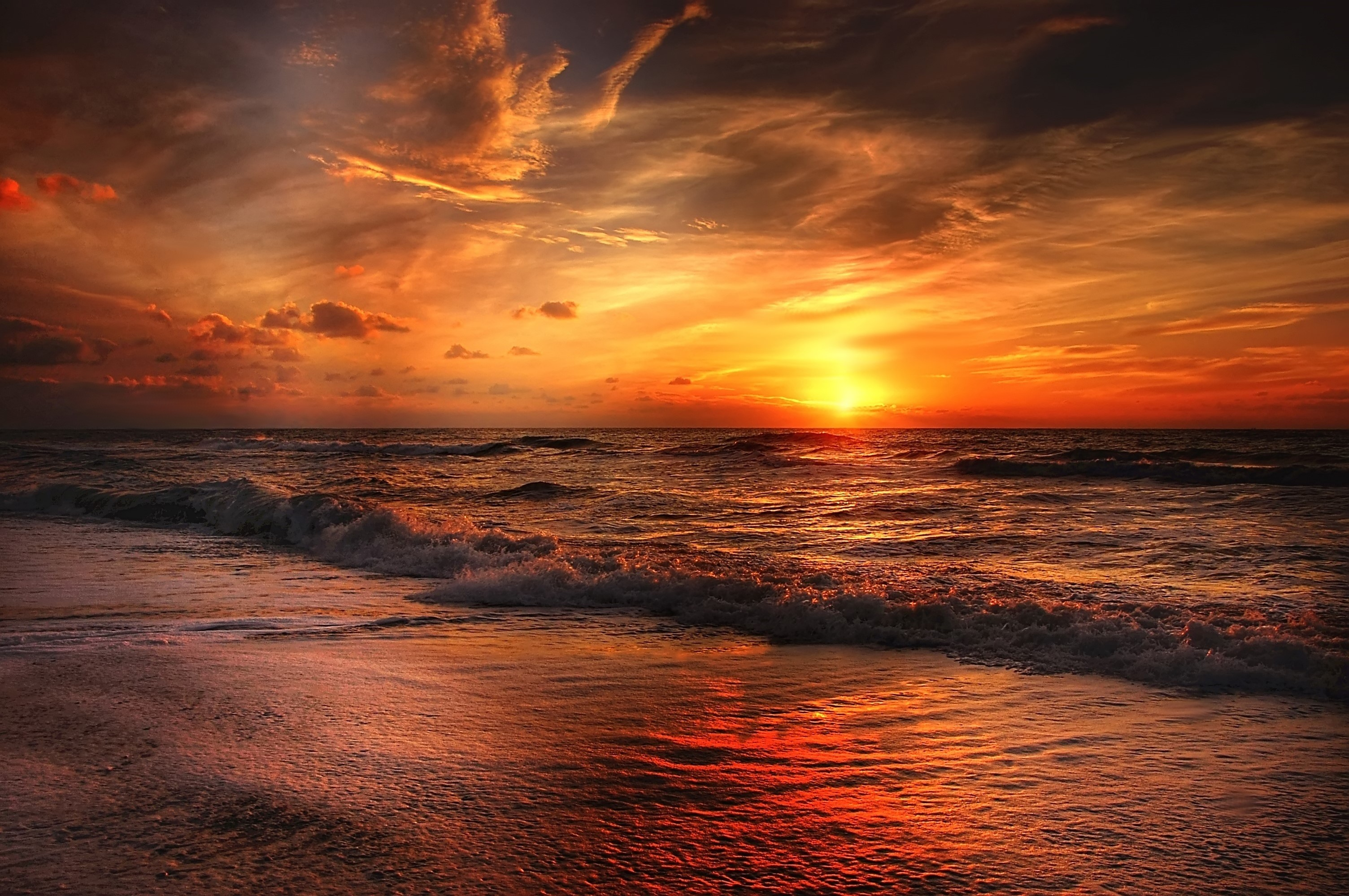 Sunset Beach Hd Nature 4k Wallpapers Images Backgrounds