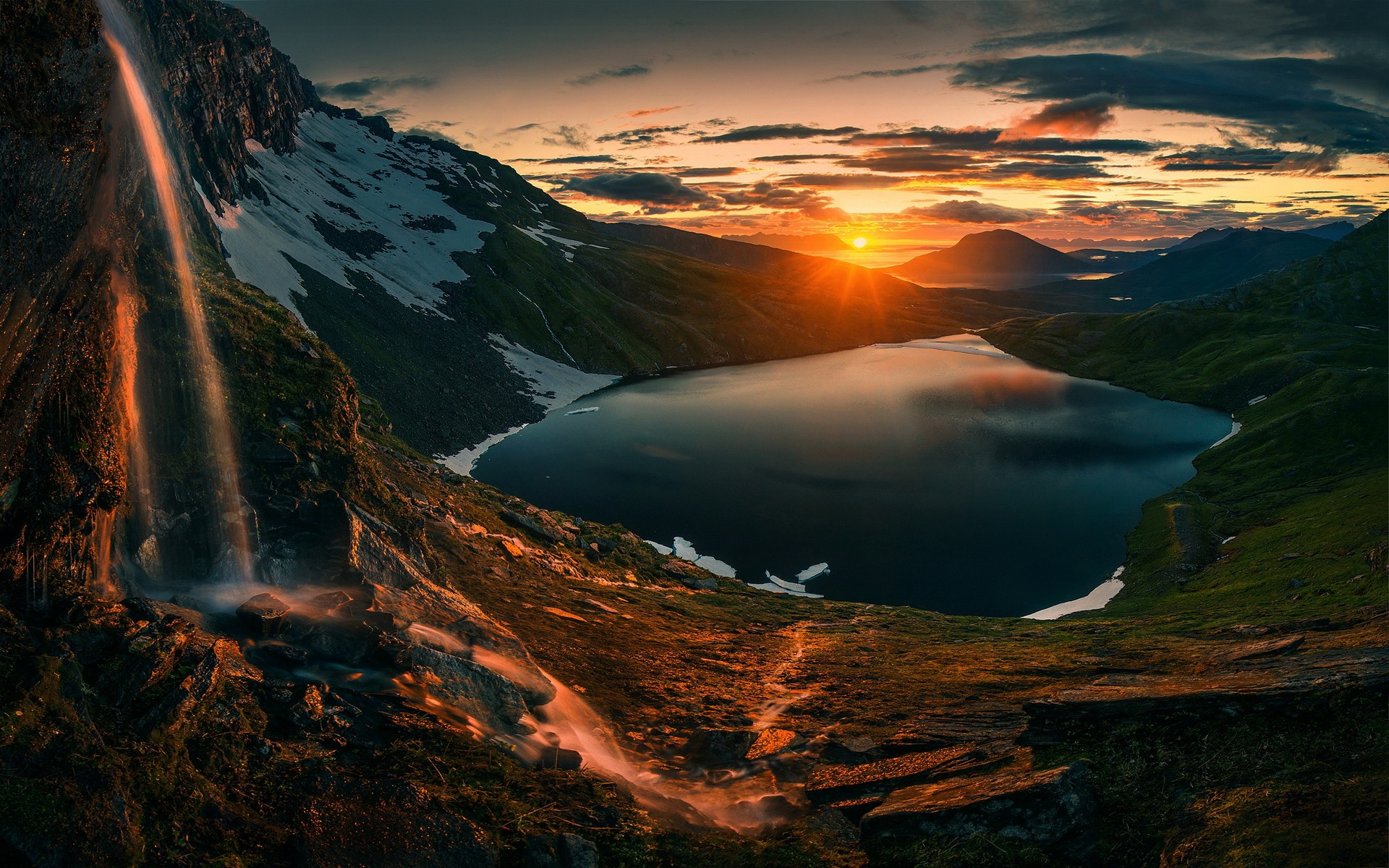 Sunset Over Mountains, HD Nature, 4k Wallpapers, Images ...
