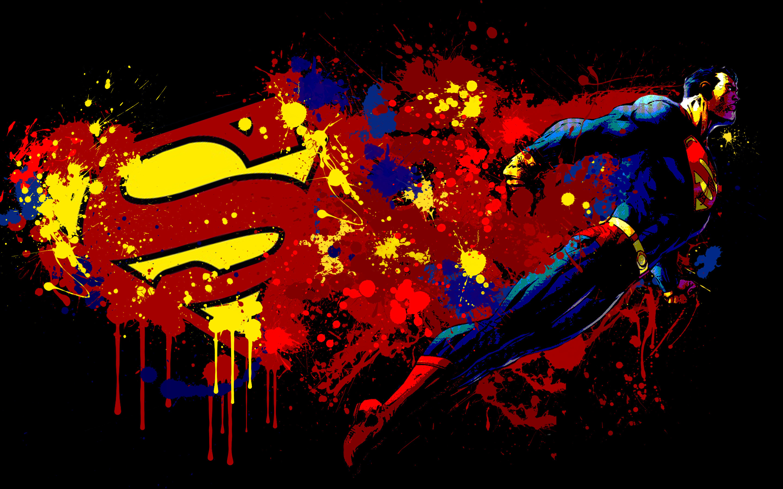 Superman And Logo Artwork Laptop HD