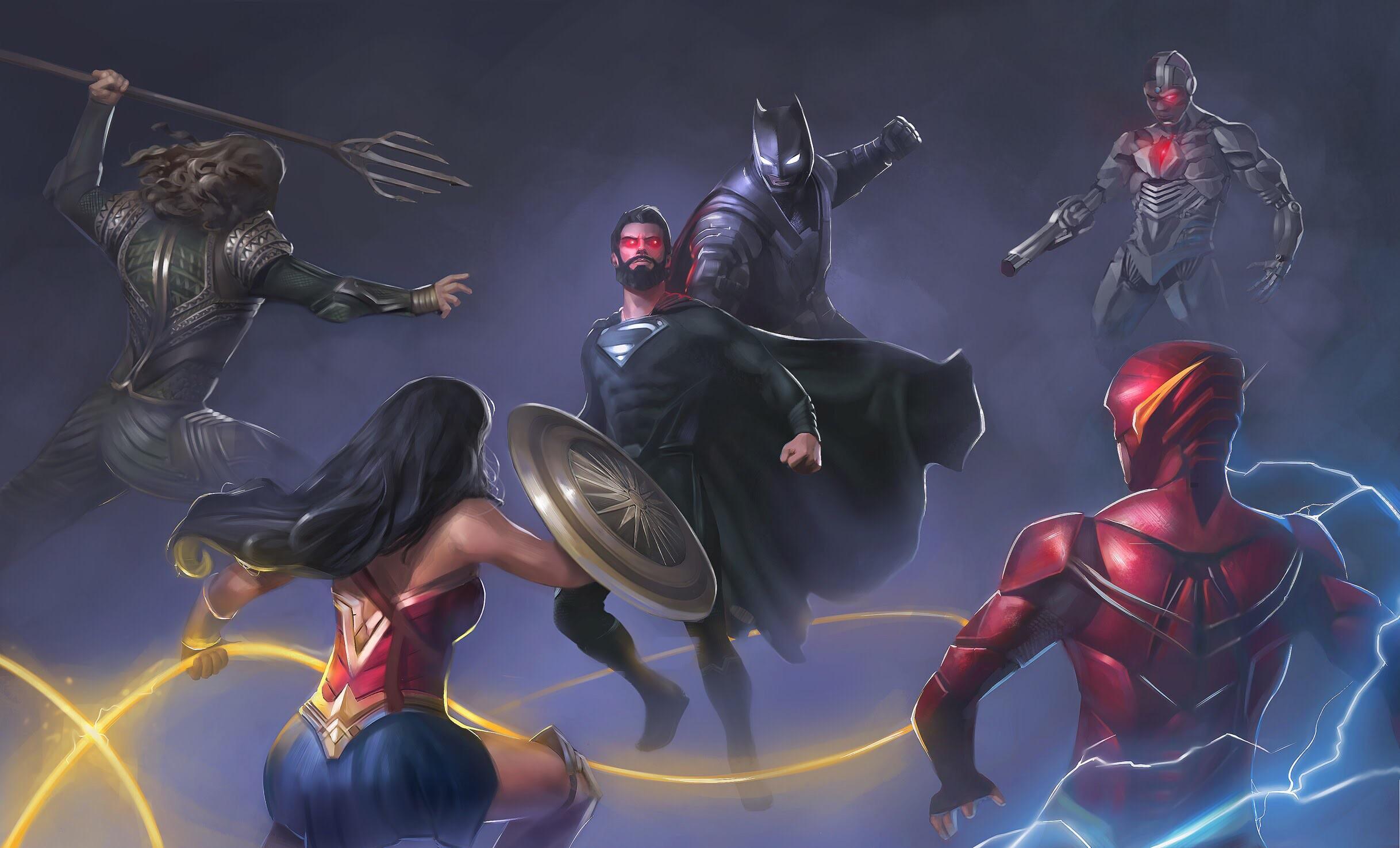 Wallpaper Justice League 2017 Movies Flash Superman: Superman Vs Justice League Artwork, HD Superheroes, 4k