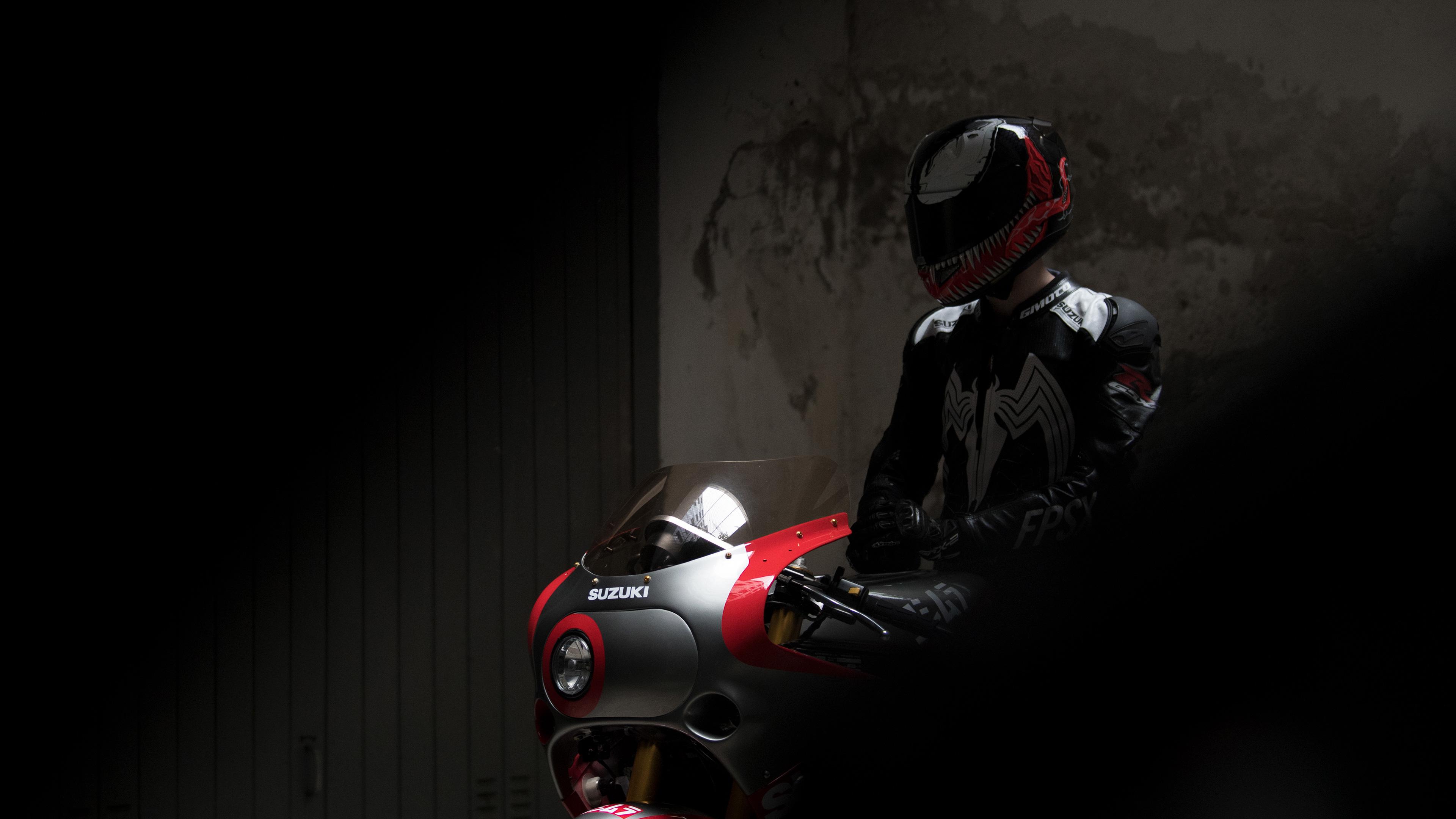 1920x1080 Suzuki GSX R 1100 Venom Helmet Laptop Full HD