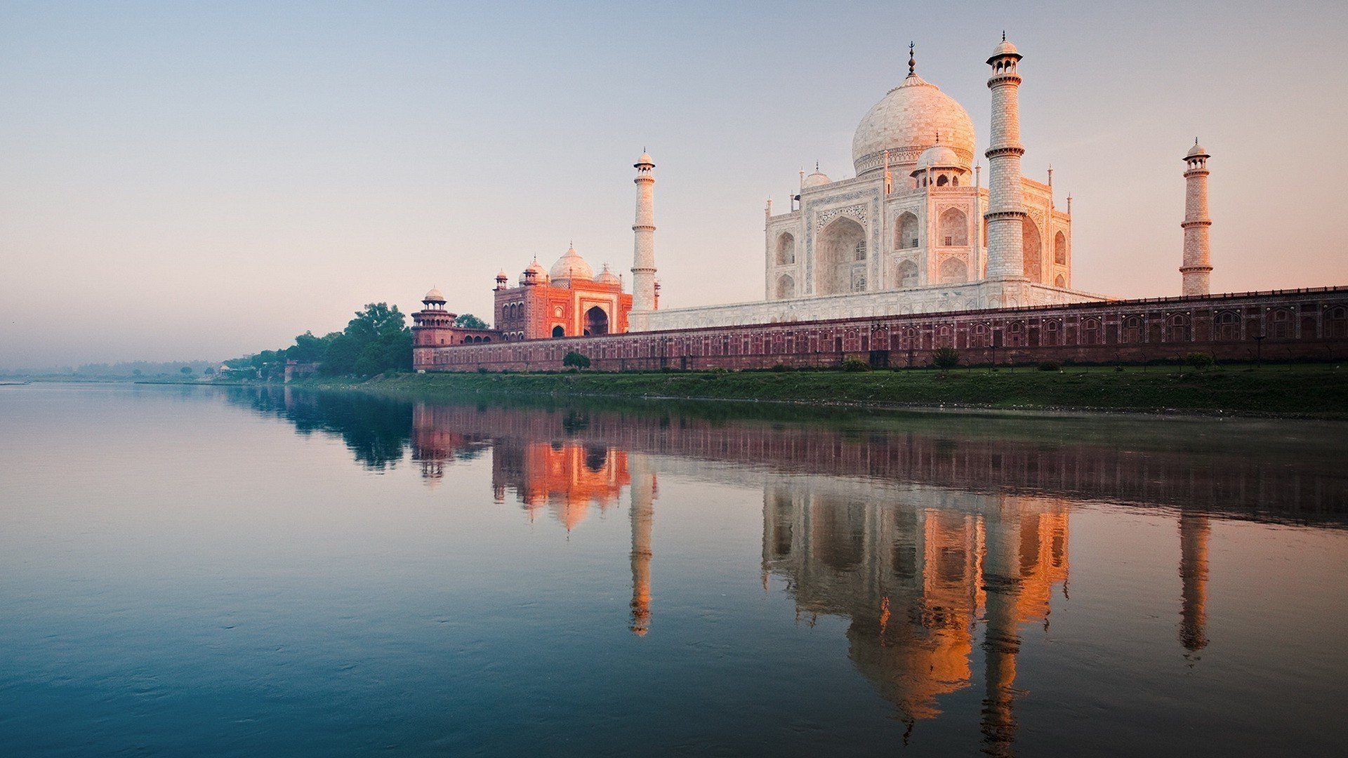1920x1080 Taj Mahal River Laptop Full Hd 1080p Hd 4k Wallpapers