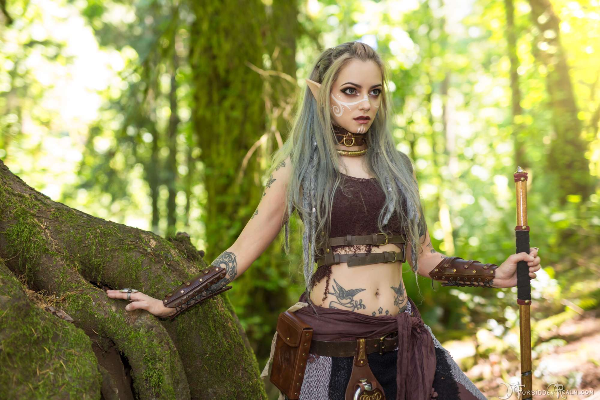 Tattoo Elf Girl Outdoor, Hd Girls, 4K Wallpapers, Images, Backgrounds, Photos And Pictures-6300