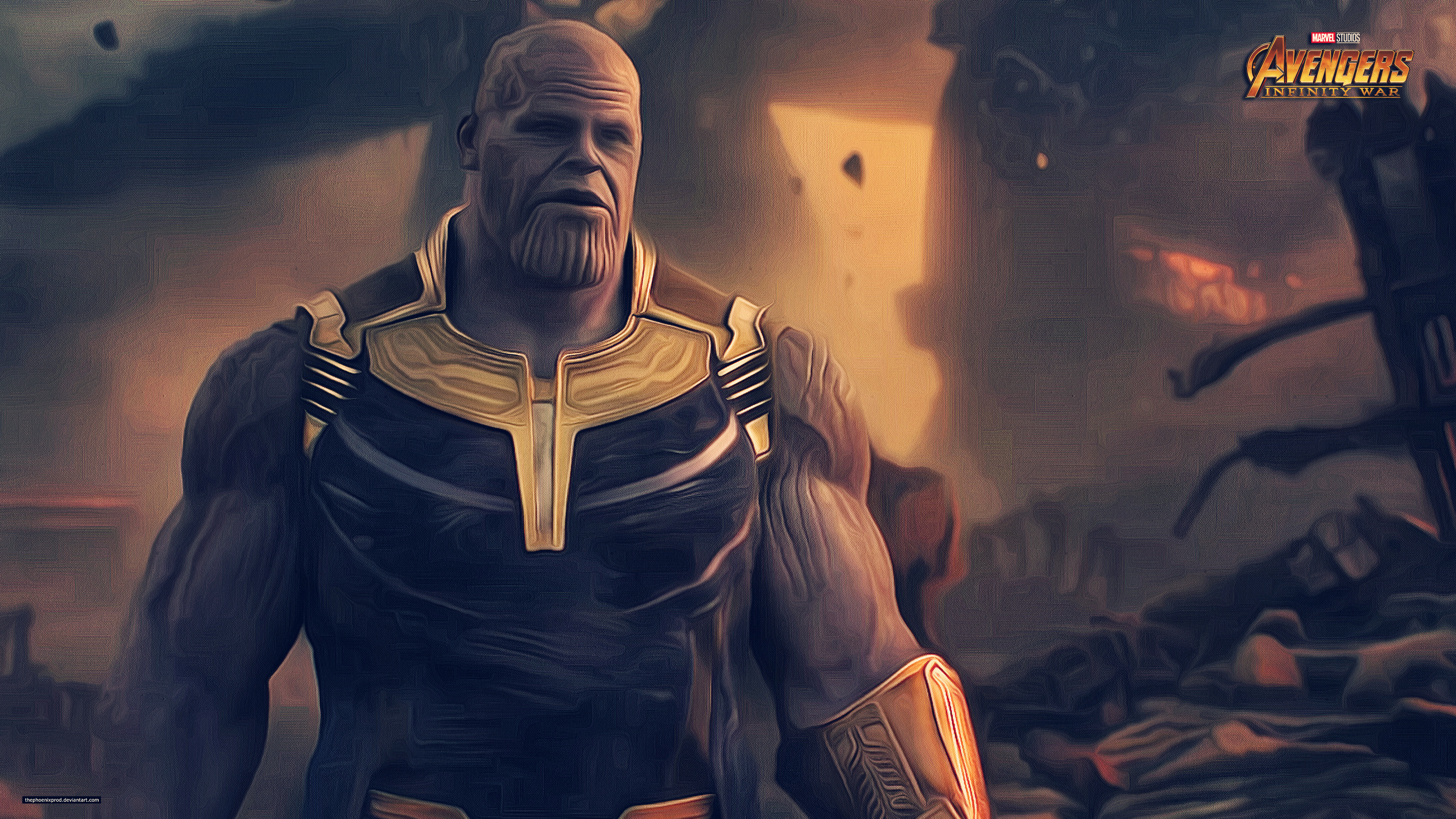 Thanos Hd Wallpaper: Thanos Avengers Infinity War 2018 4k Artwork, HD Movies