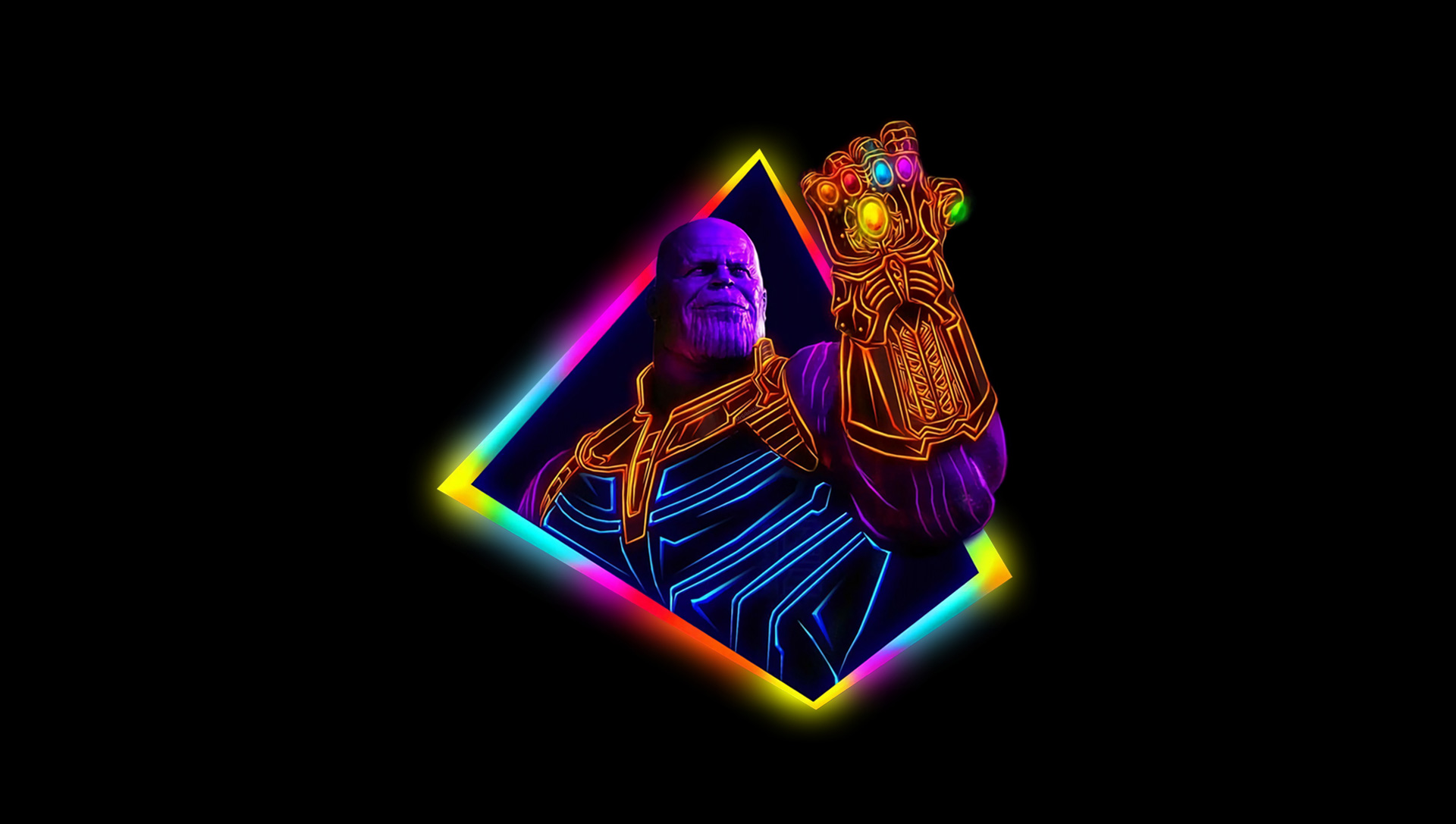 Avengers Infinity War Iphone Wallpaper: 1125x2436 Thanos Avengers Infinity War 80S Style Artwork