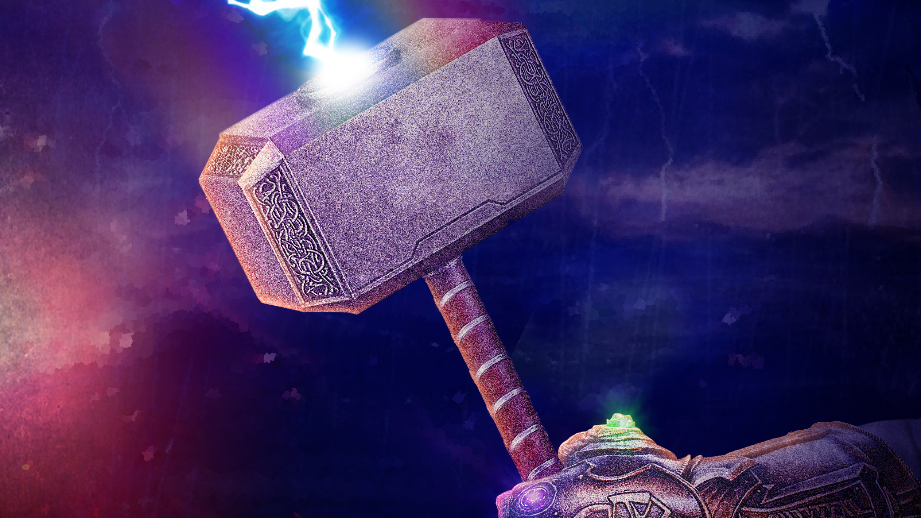 1920x1080 thanos gauntlet with thor hammer laptop full hd 1080p hd 4k wallpapers images - Thor hammer hd pics ...