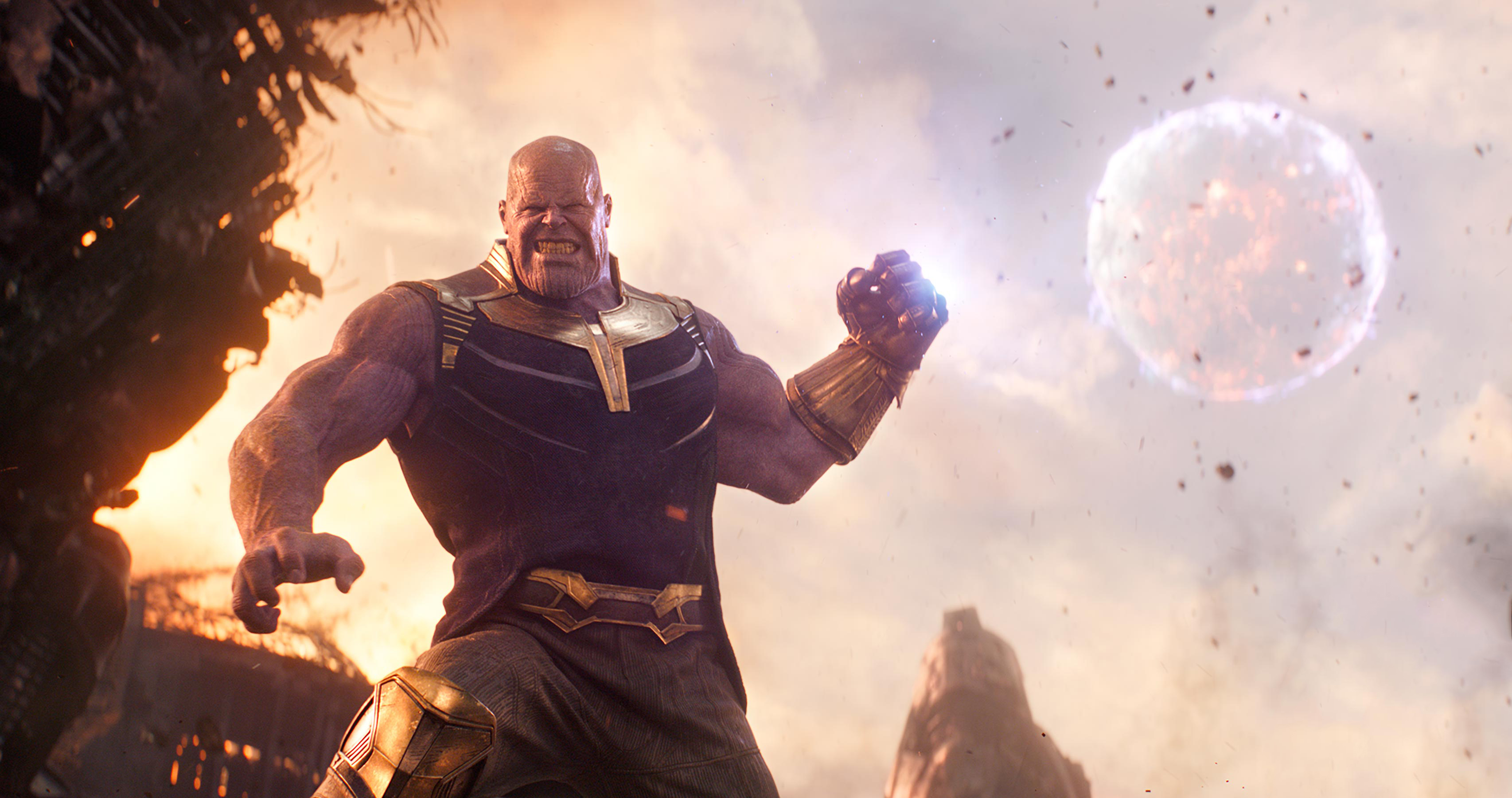 thanos in avengers infinity war 2018, hd movies, 4k wallpapers