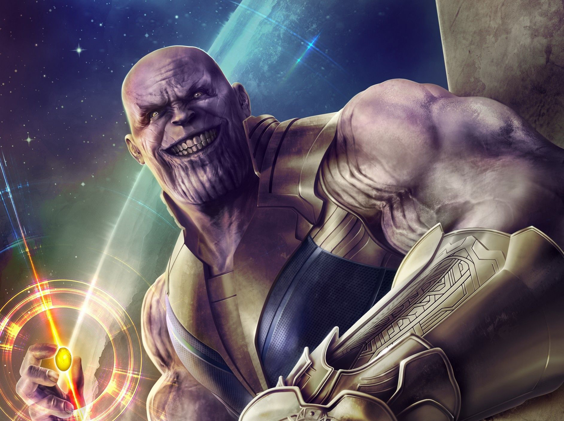 Thanos Infinity Stone Artwork
