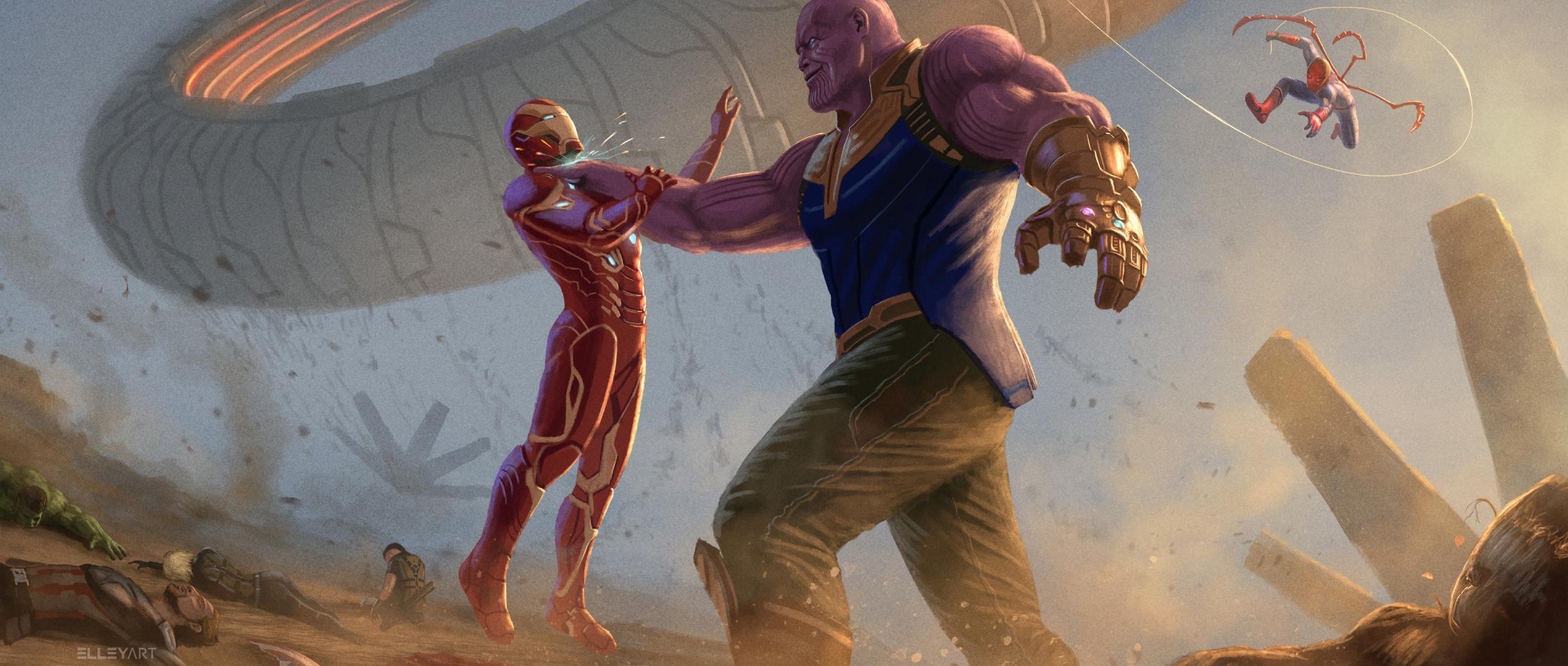 Wallpaper Thanos Avengers Infinity War Artwork Hd