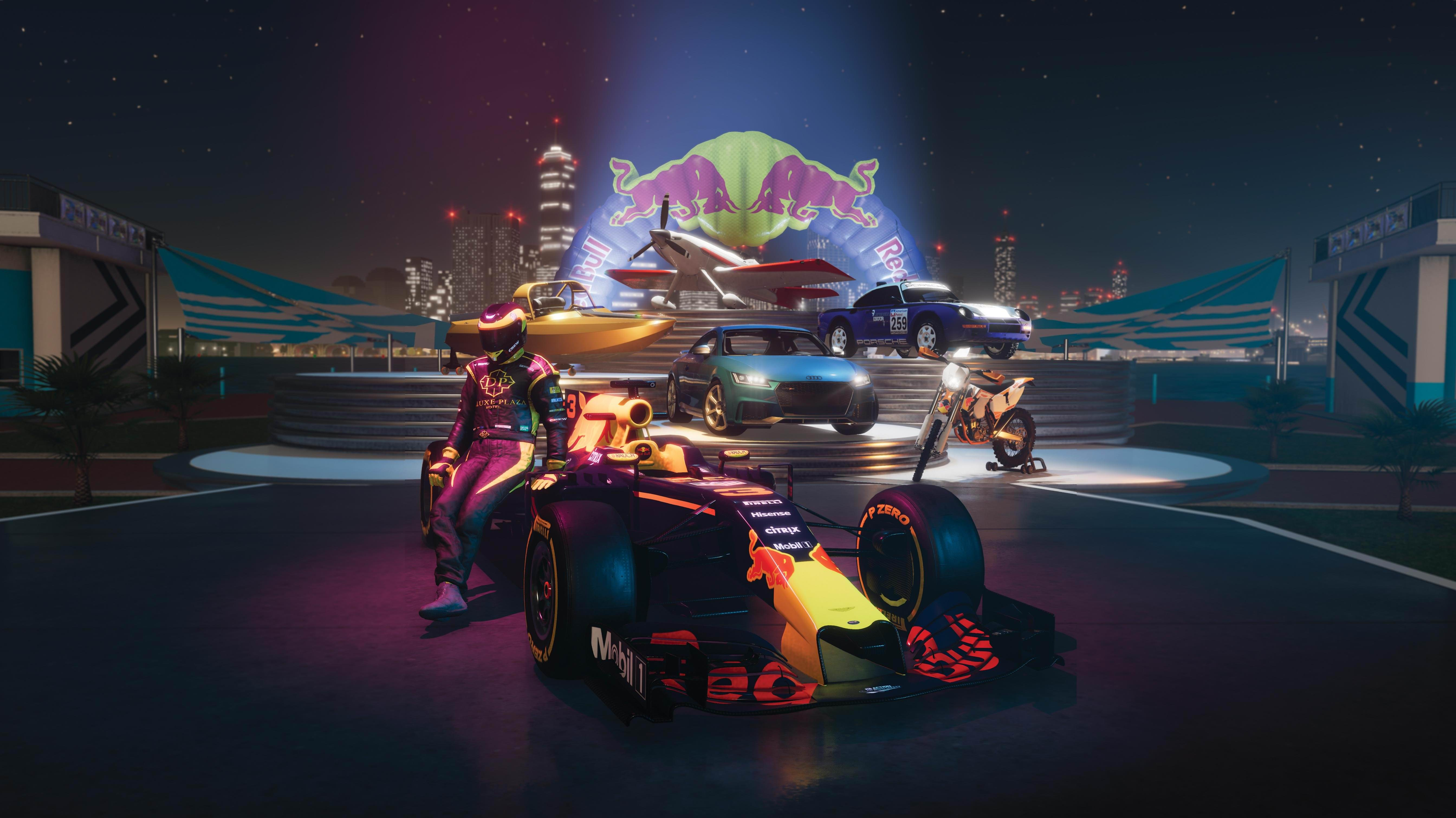 the crew 2 redbull 4k, hd games, 4k wallpapers, images, backgrounds