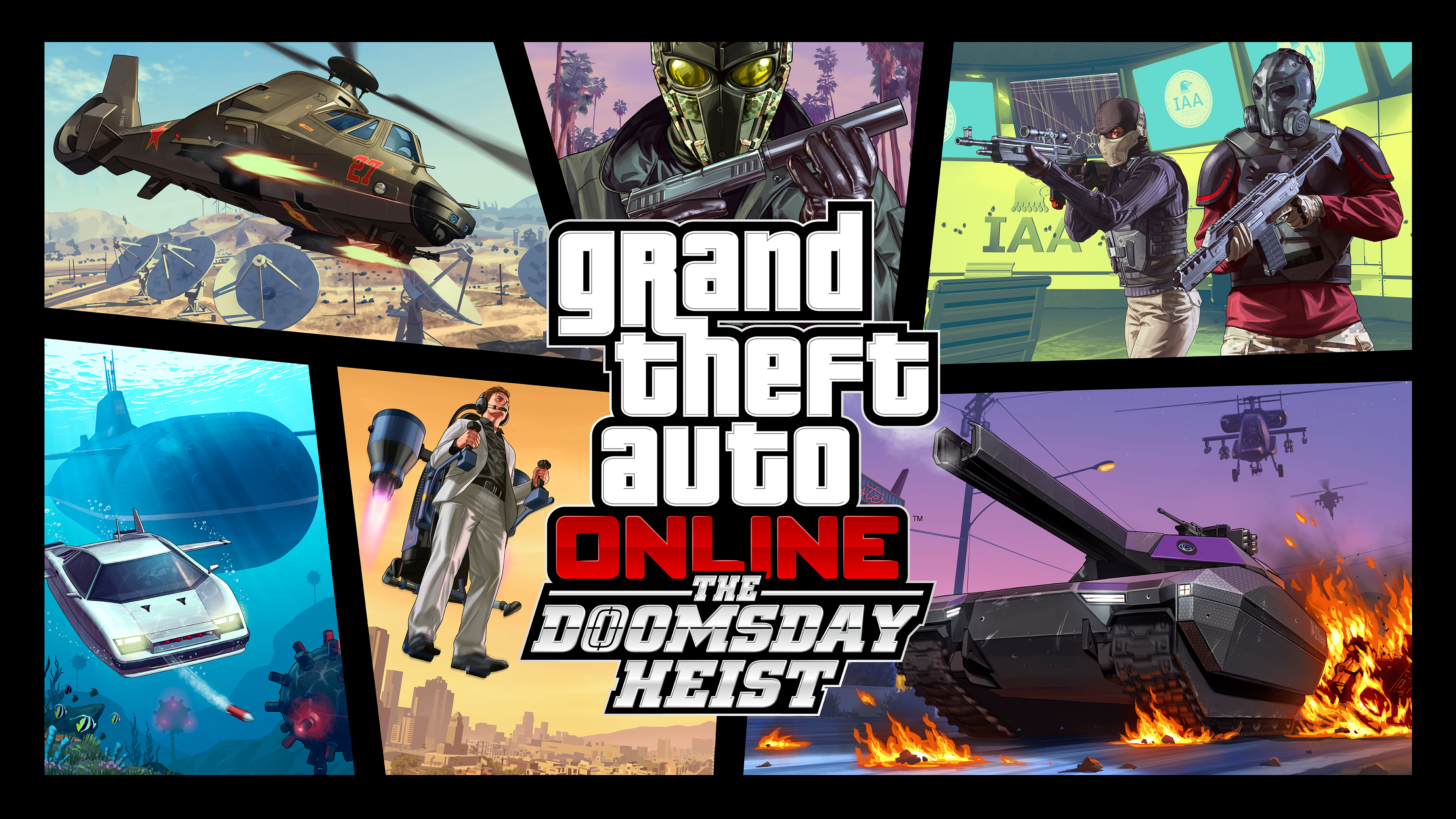the doomsday heist grand theft auto online, hd games, 4k wallpapers