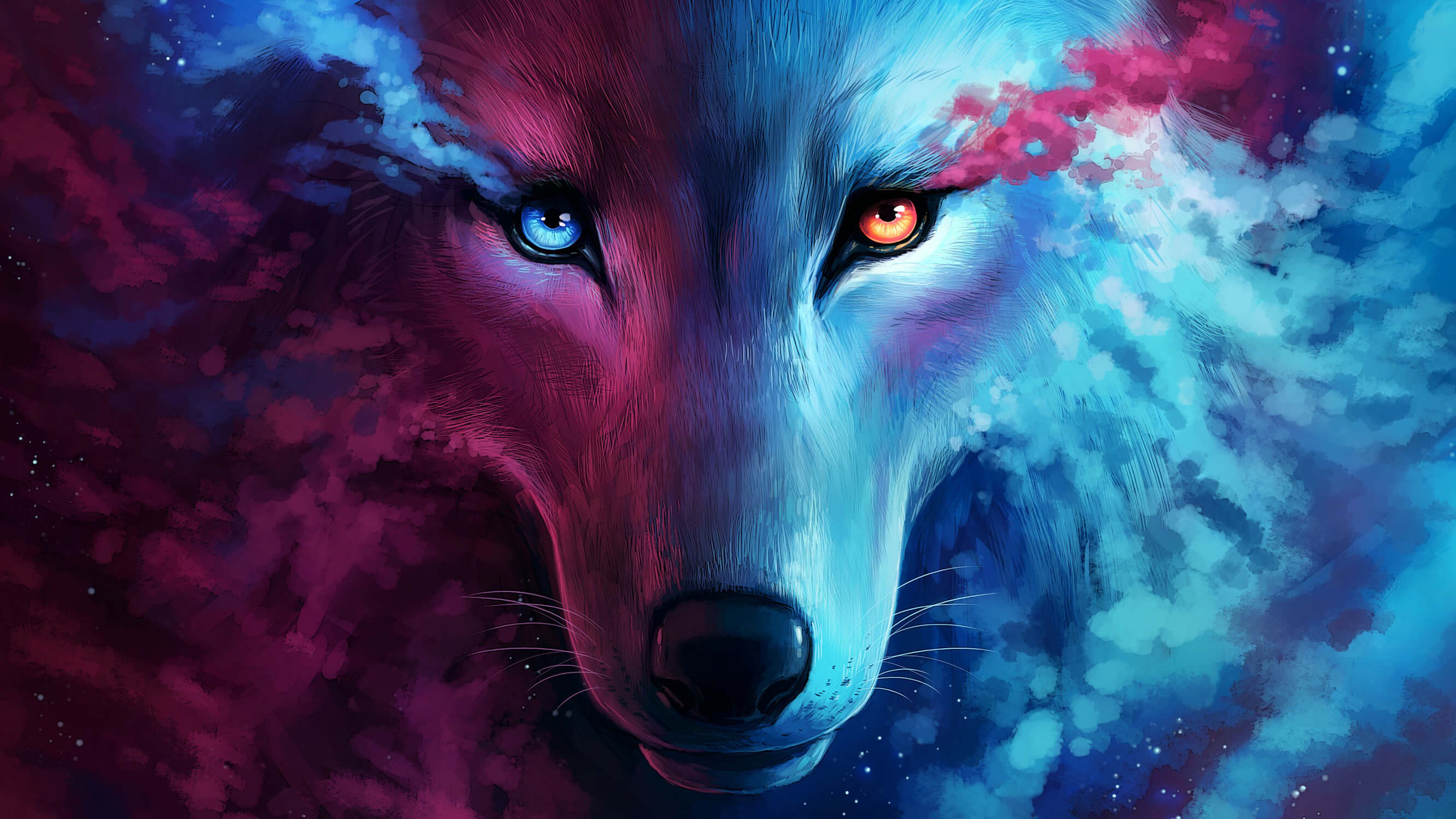 The Galaxy Wolf, HD Artist, 4k Wallpapers, Images