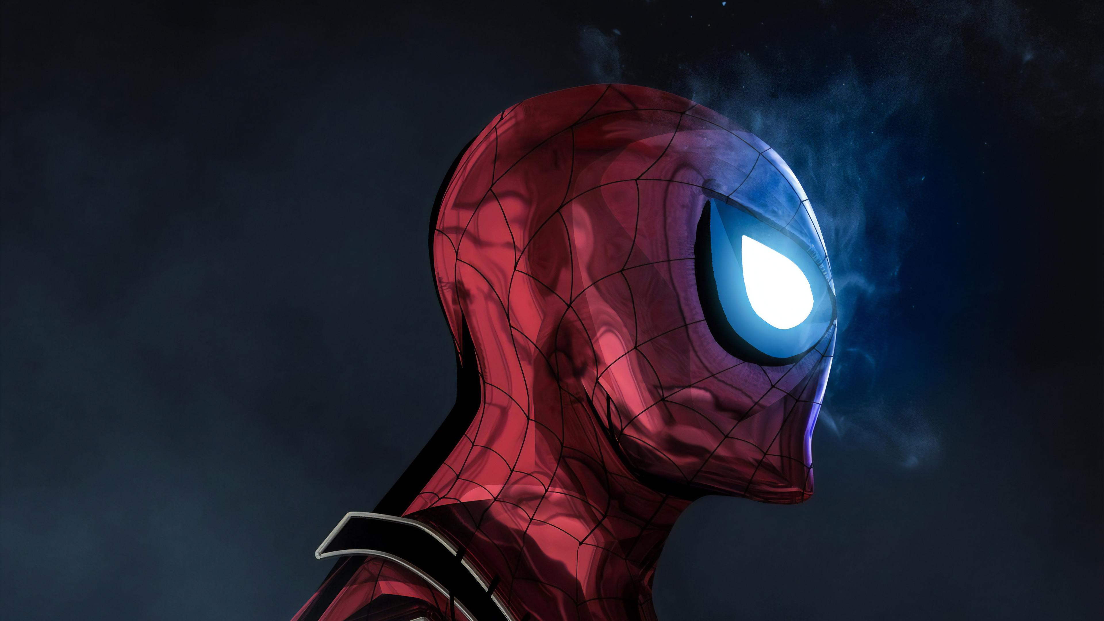 The Glowing Eyes Spiderman 4k Hd Superheroes 4k Wallpapers