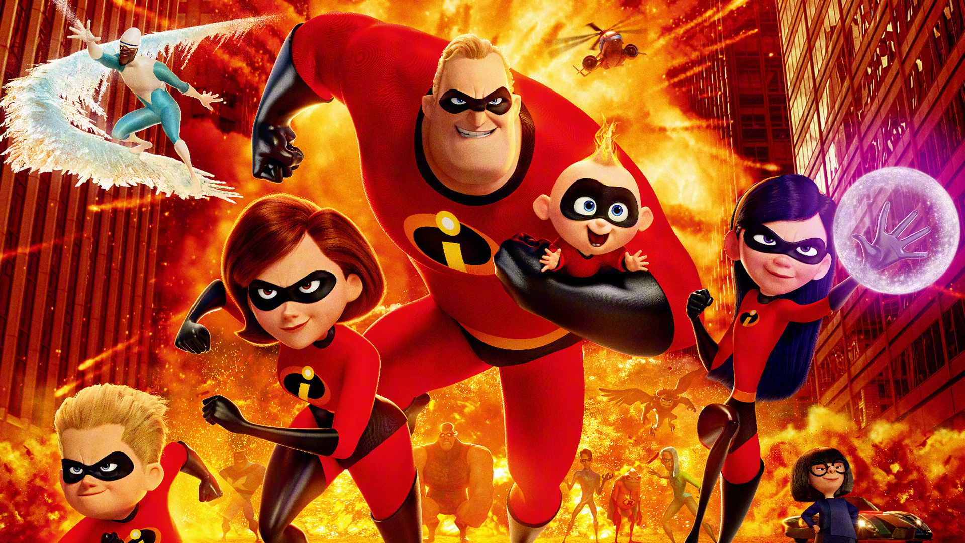 the incredibles 2 chinese poster, hd movies, 4k wallpapers, images