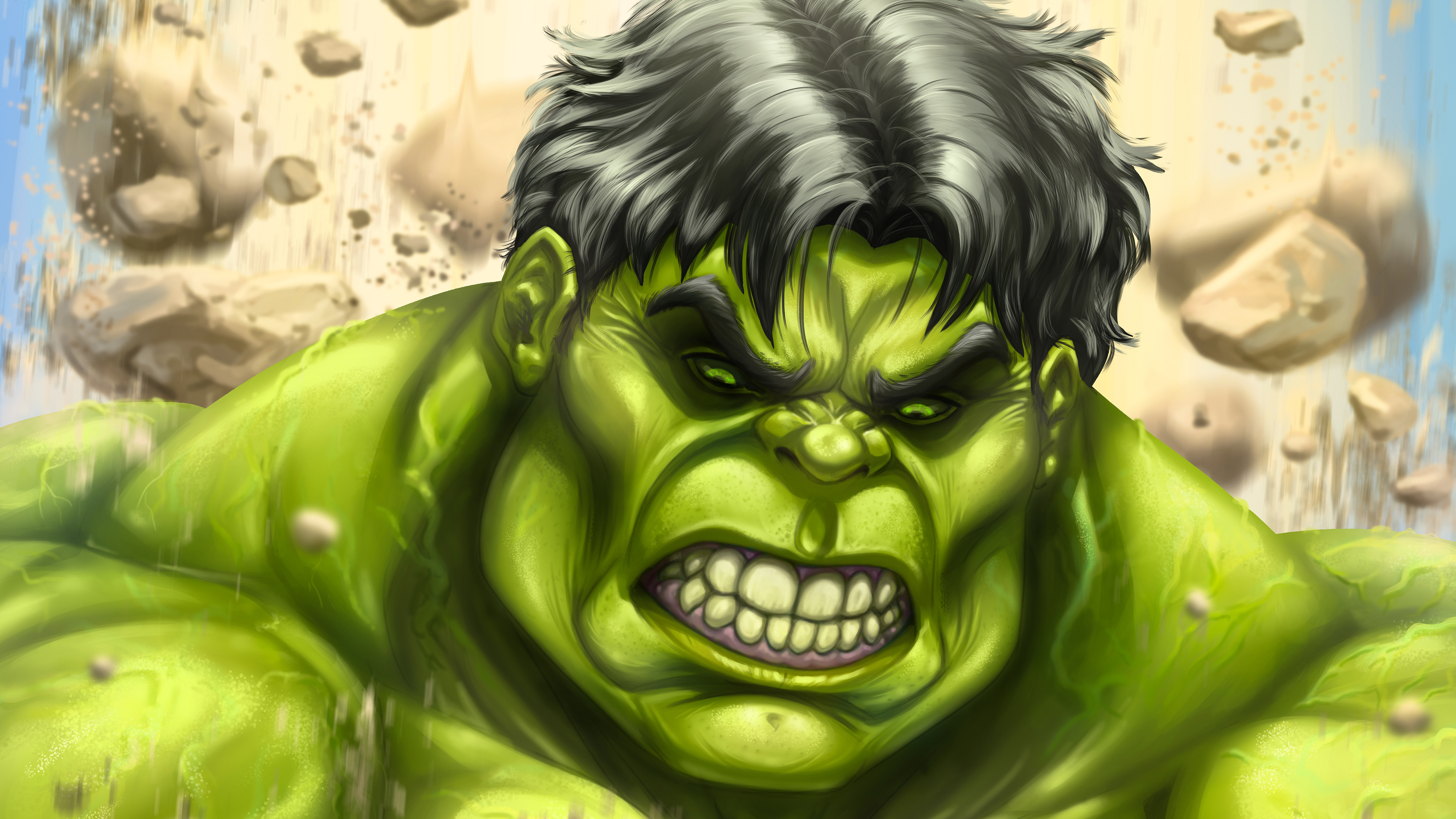 1600x1200 The Incredibles Hulk Art 4k 1600x1200 Resolution
