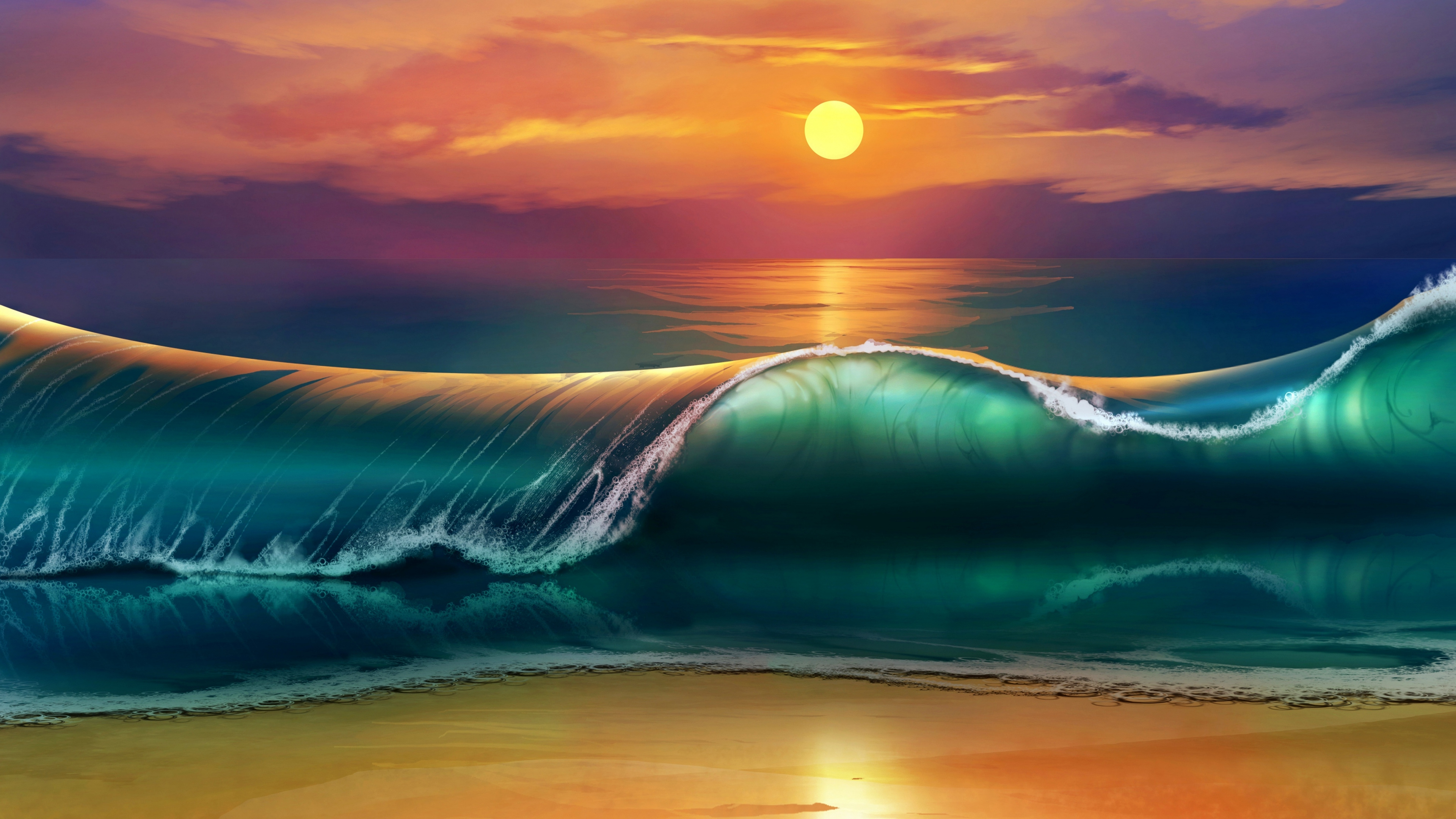 The sunset art hd artist 4k wallpapers images backgrounds the sunset art voltagebd Gallery